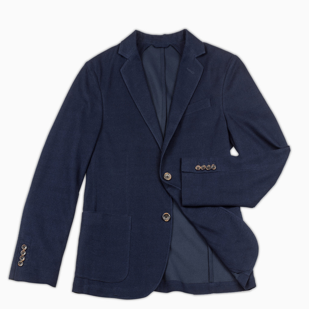 Coustan Light Tech Knit Blazer (dark blue)