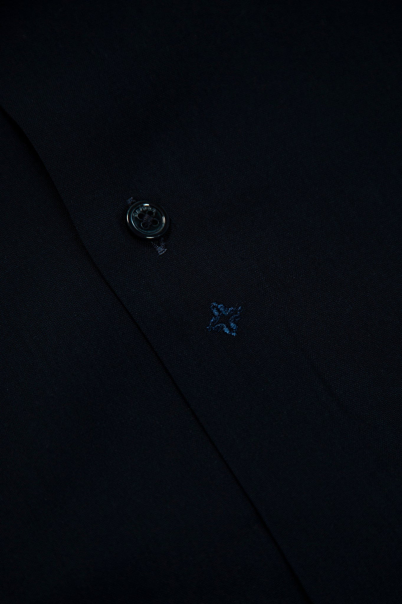 Clamenc twill wool shirt (dark blue)