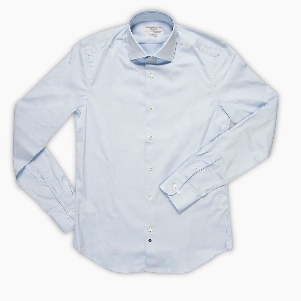 Clamenc shirt satin stretch (air blue)