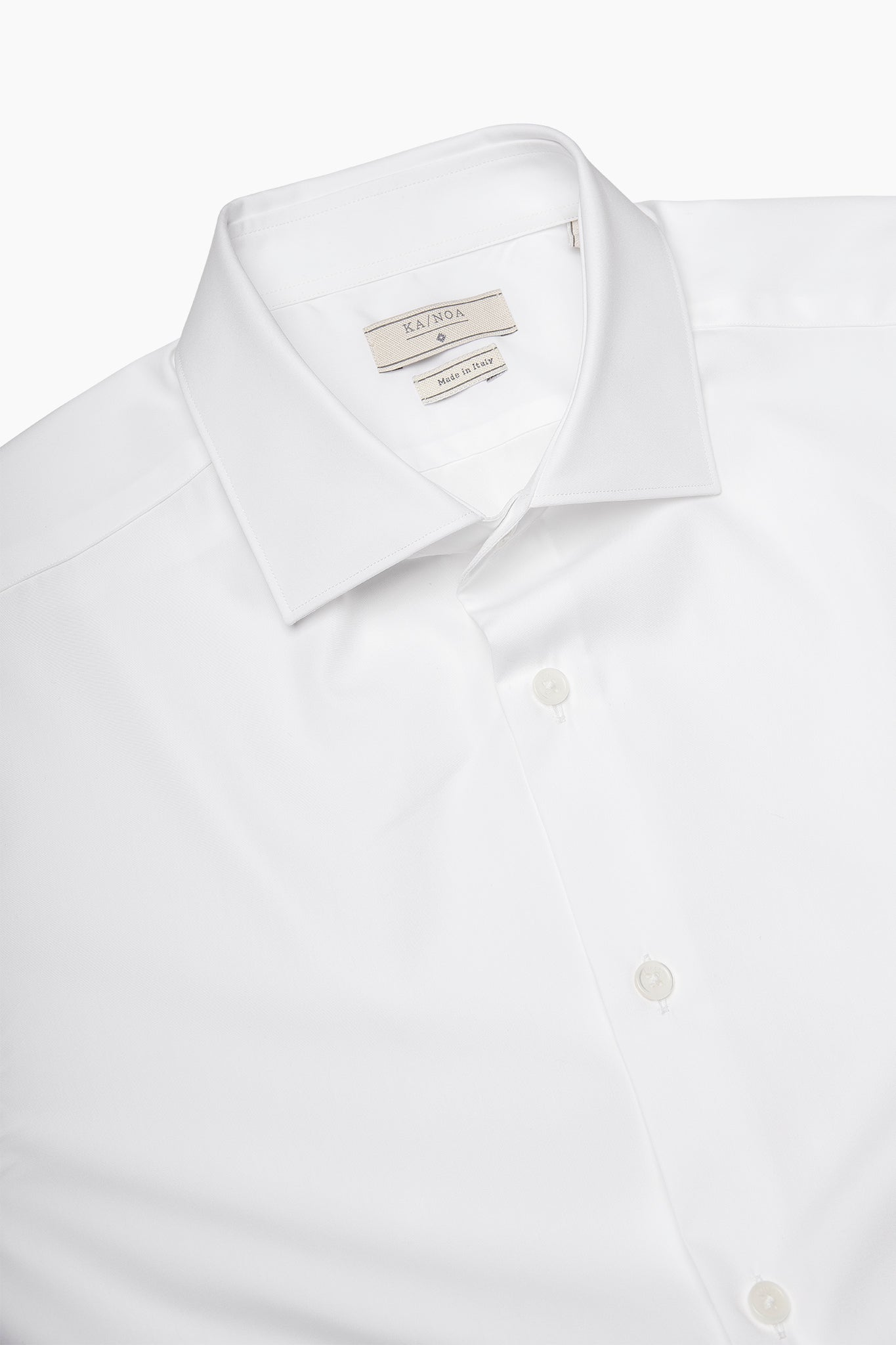 Clamenc All day long-sleeved shirt in Journey (ice white)