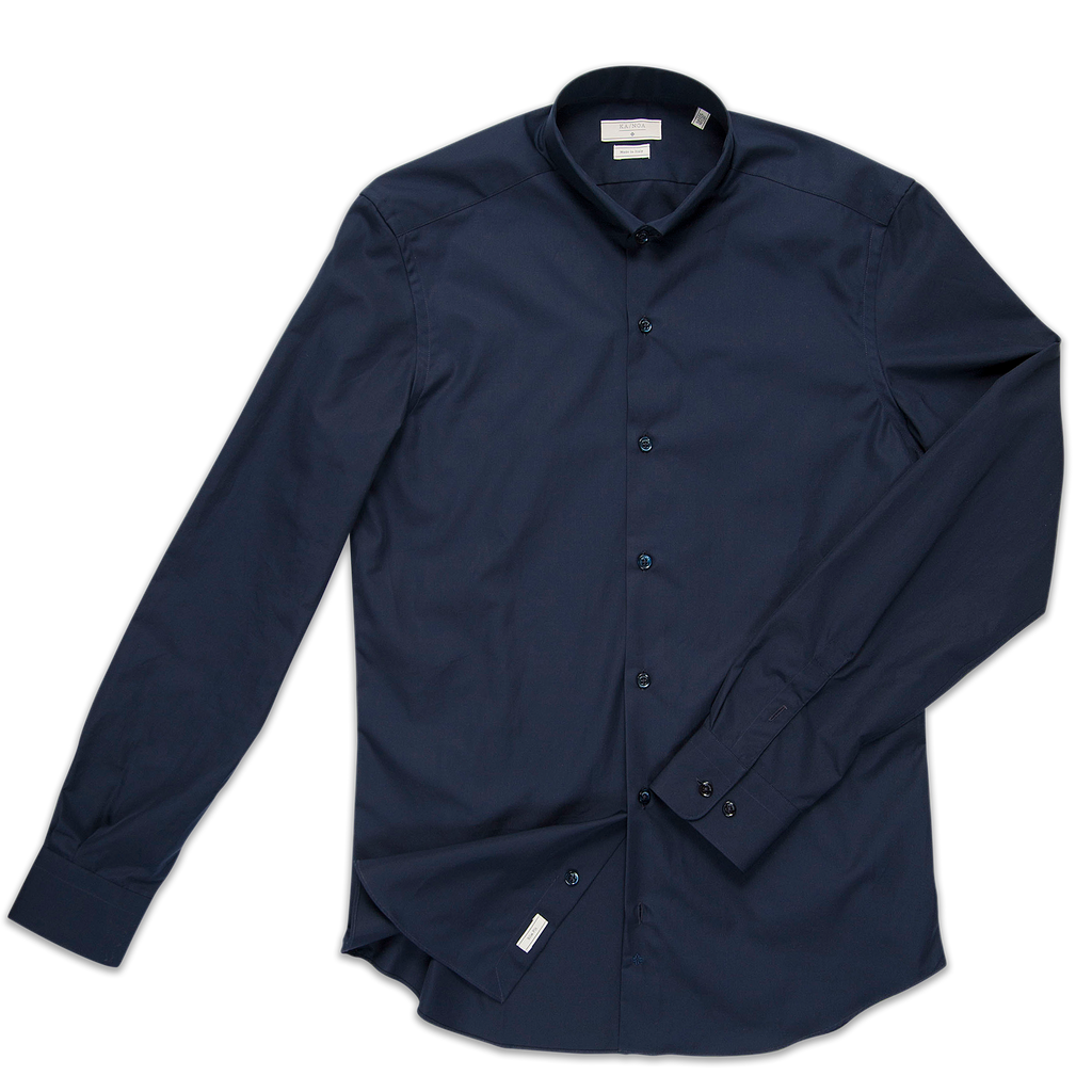 Conrad shirt Popeline (dark blue)