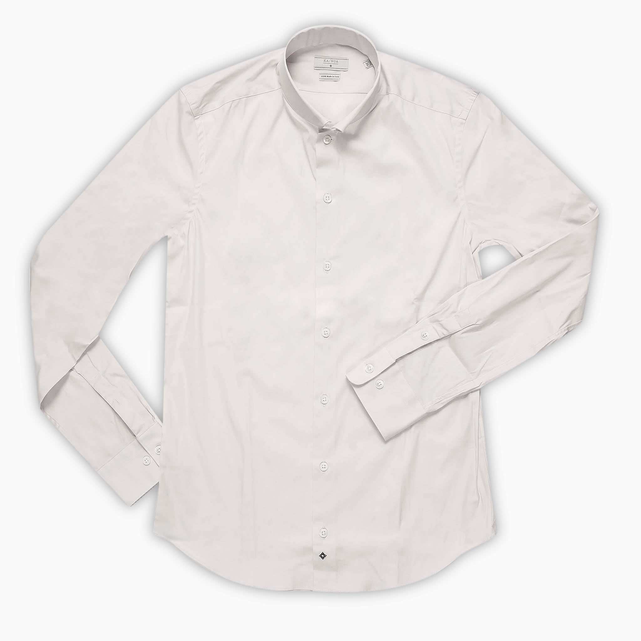 Conrad shirt satin stretch (natural white)