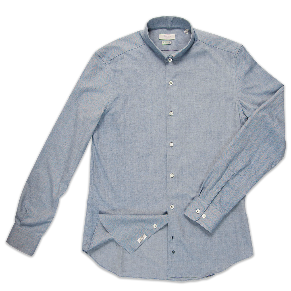 Conrad shirt Soft Herringbone (sky blue)