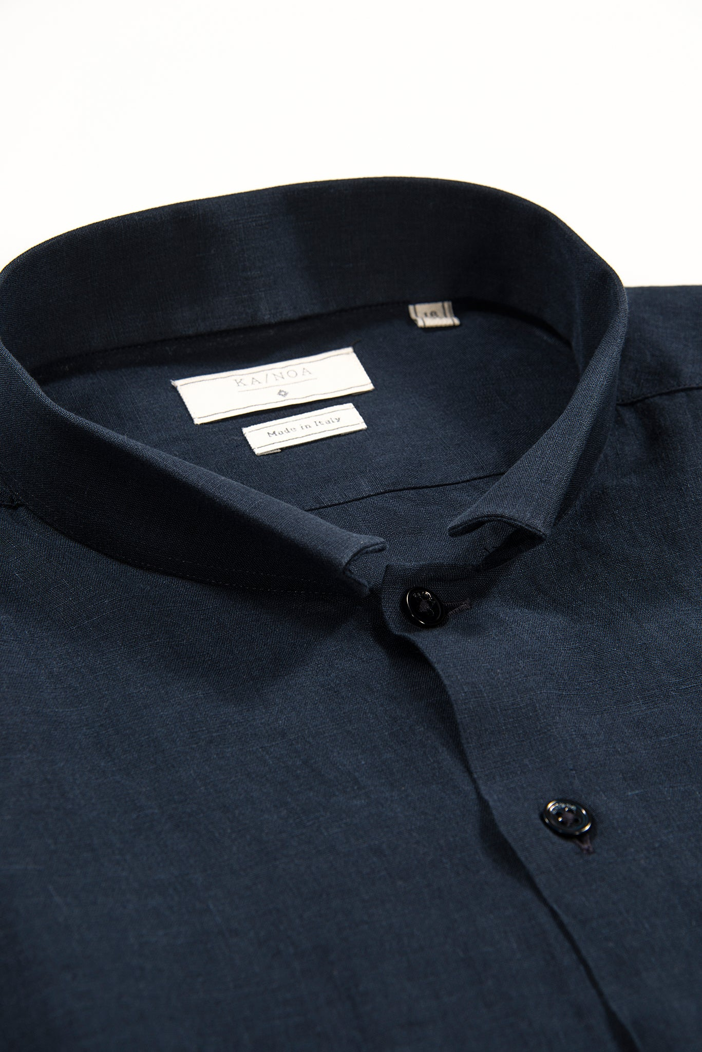 Conrad Golden Linen shirt (Dark Blue)