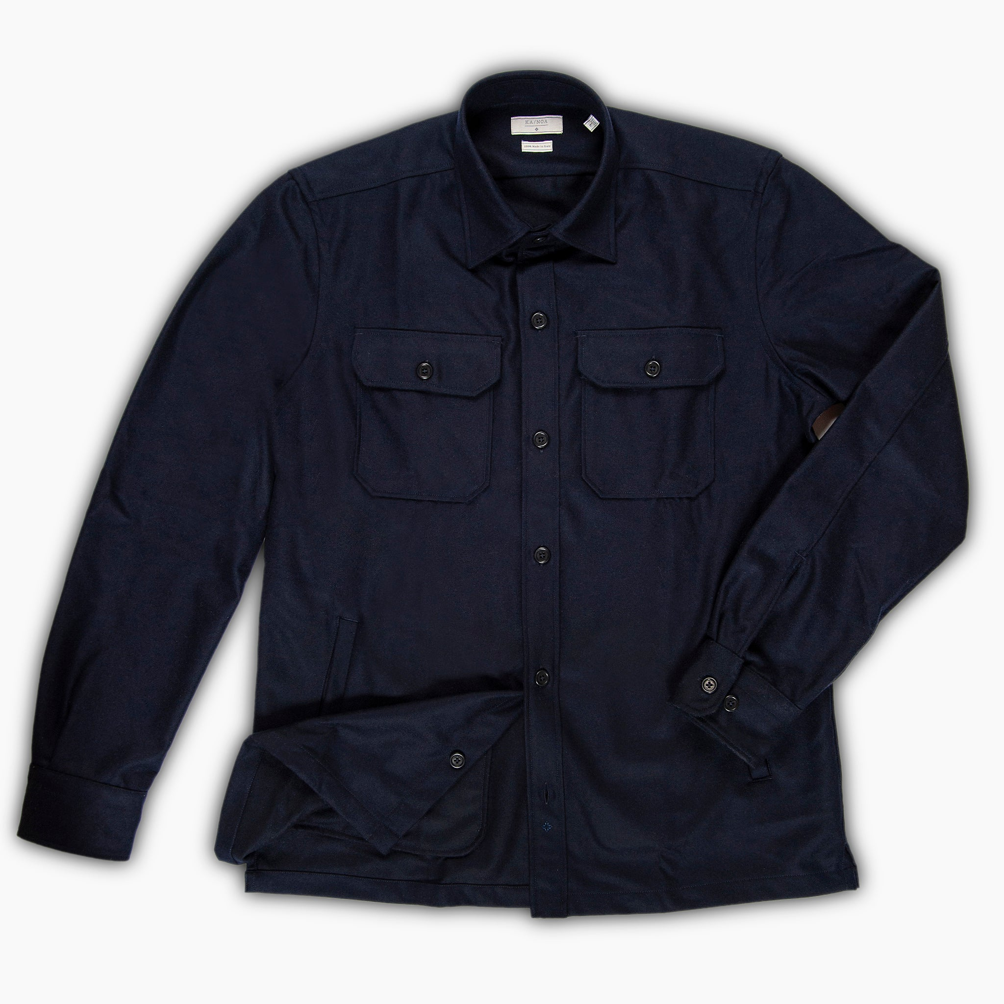 David Wool Outer Shirt (Dark blue)