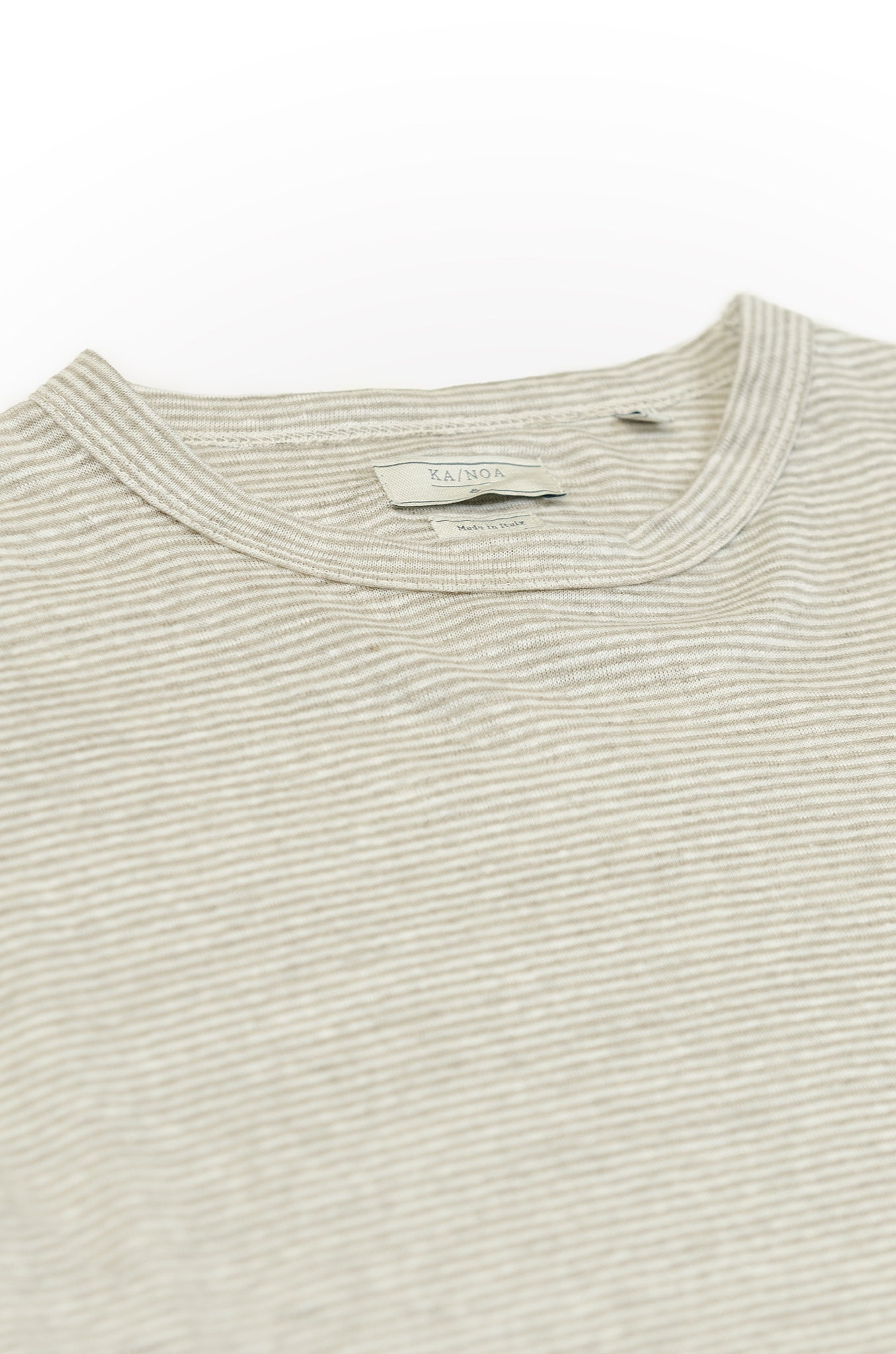 Eliè long-sleeved t-shirt in soft-striped jersey (creme)