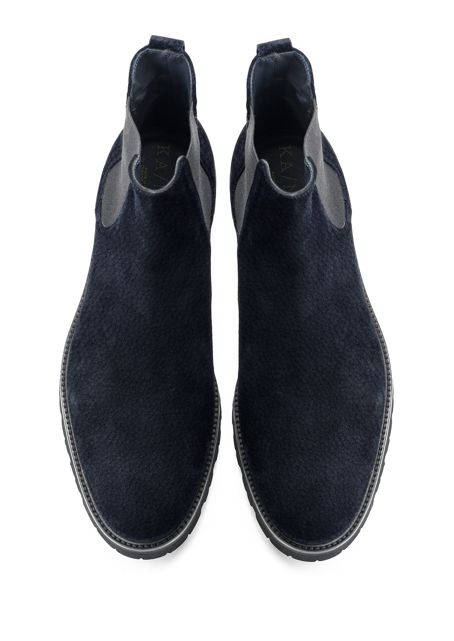 Emile Chelsea Suede with Rubber black sole (dark blue)