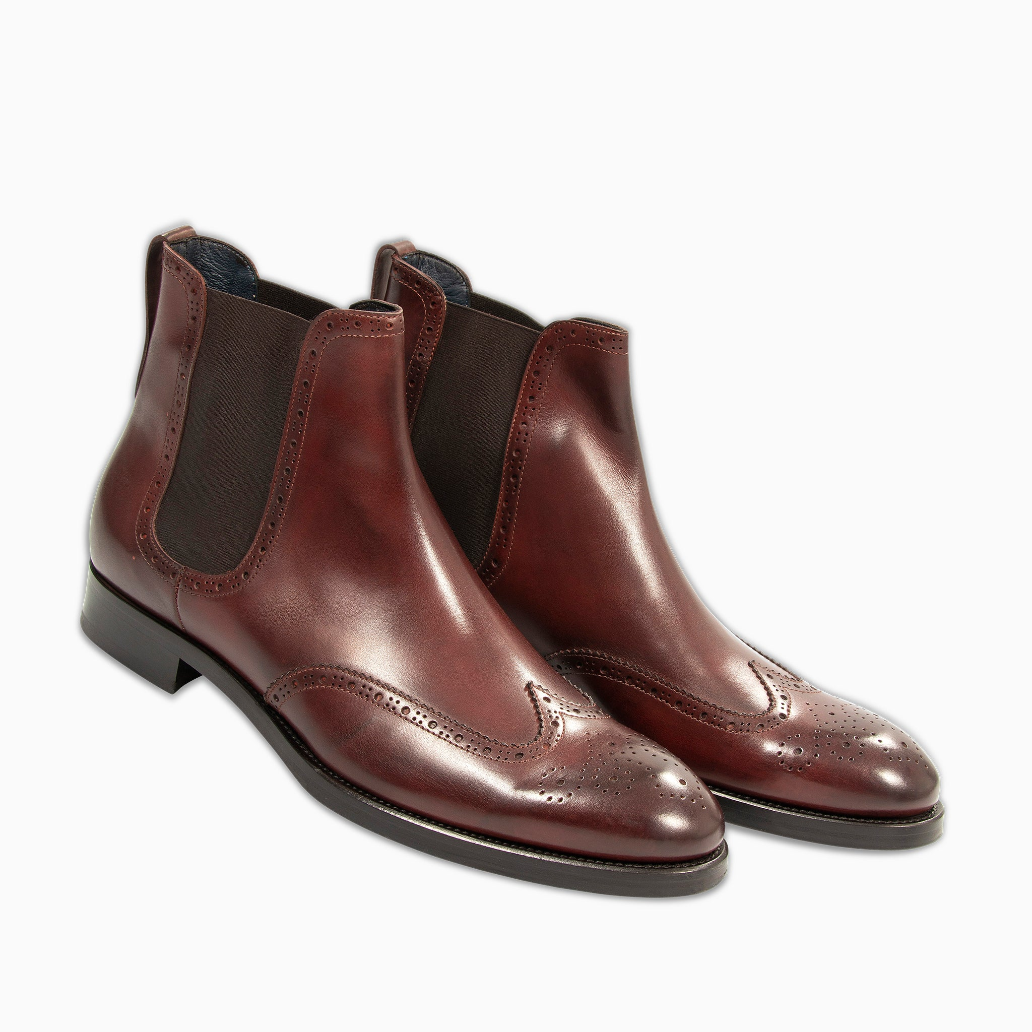 Eduard Chelsea Leather Shoes  (aubergine)