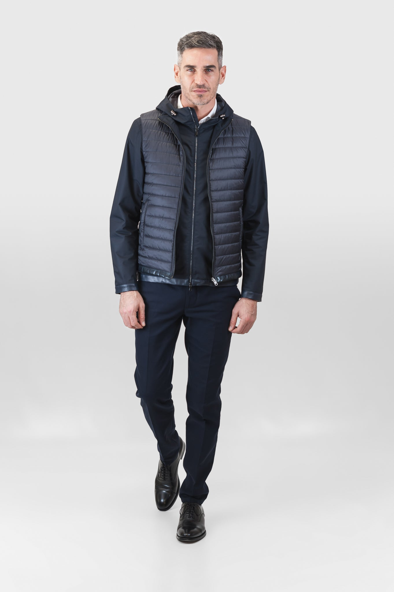 Feli Techno Wool Lam Gilet Reversible (dark blue)