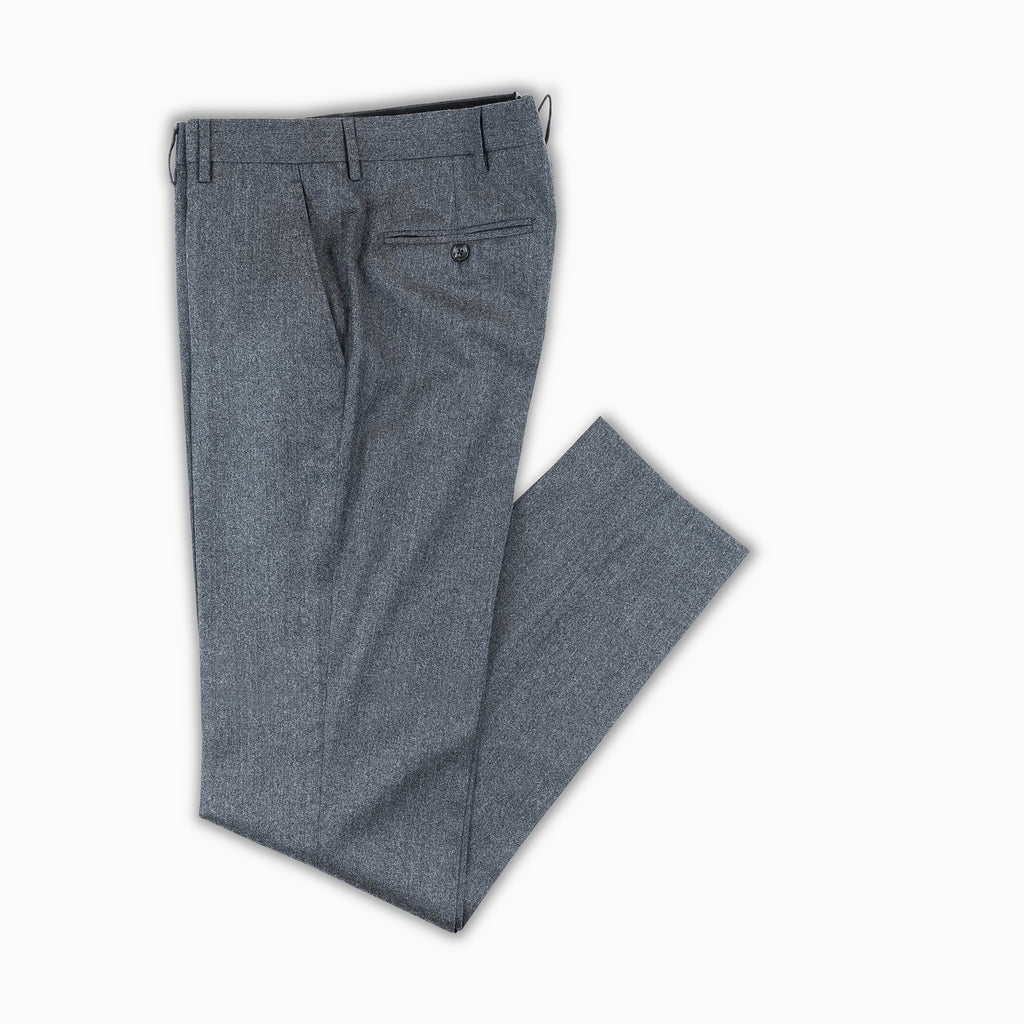 Flavien Chino Pants Cashmere and Wool (dark grey melange)