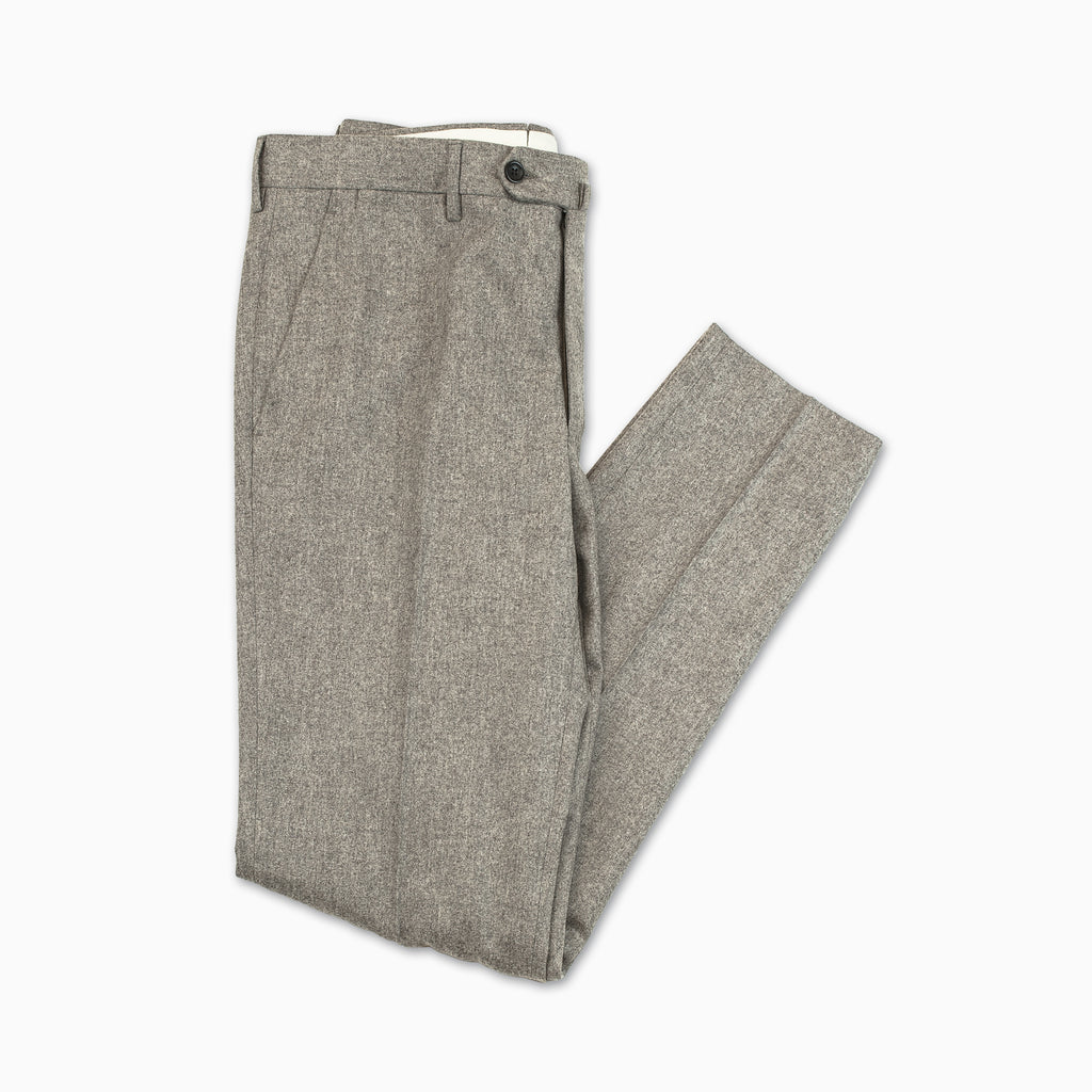 Flavien Chino Pants Wool Flannel (Taupe Melange)