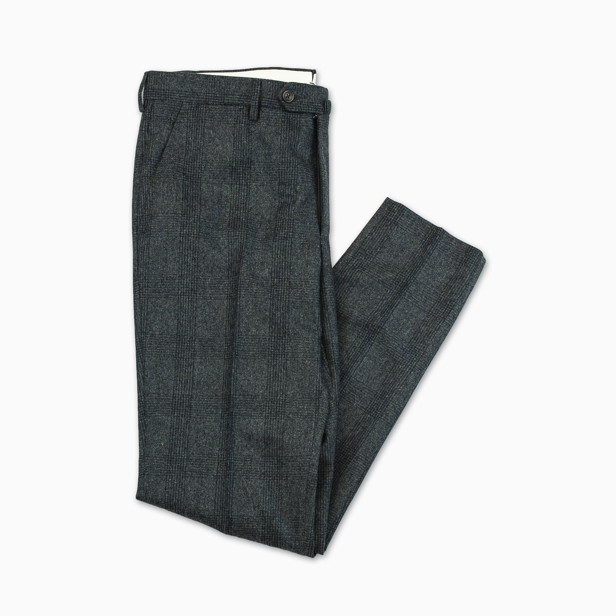 Flavien Chino Pants Wool Flannel (Prince of Wales)