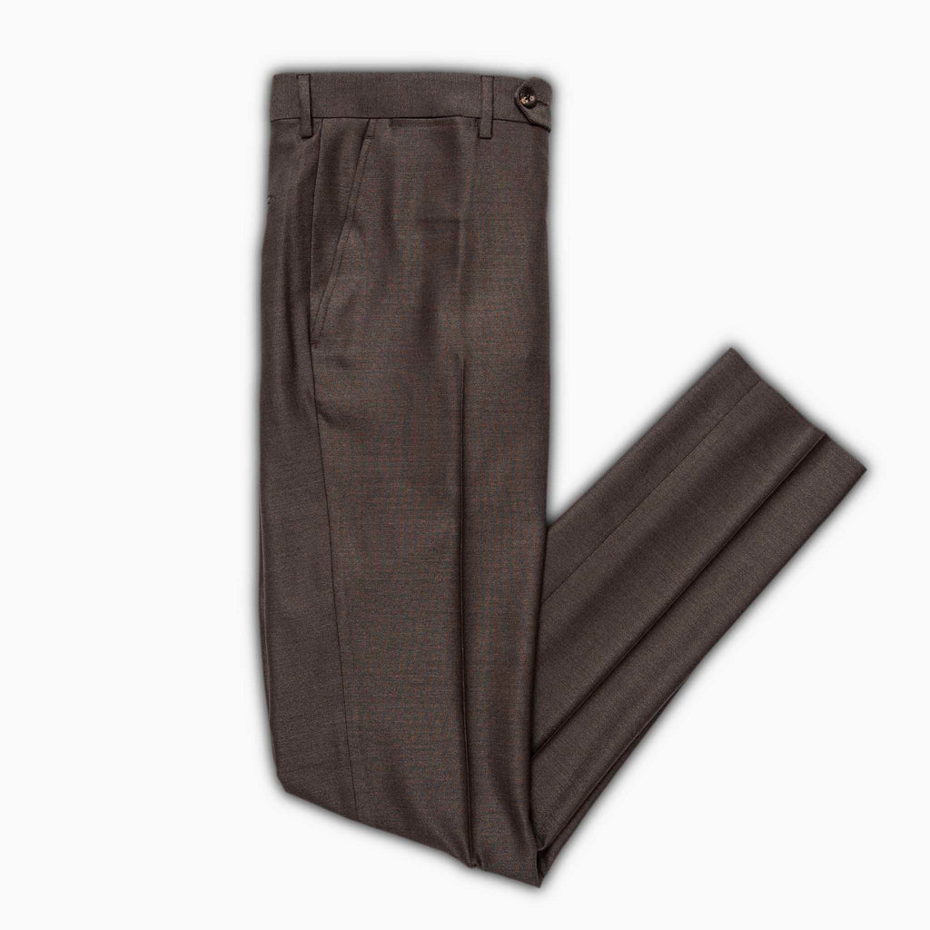 Flavien active chino pants in wool and silk (mountain brown)