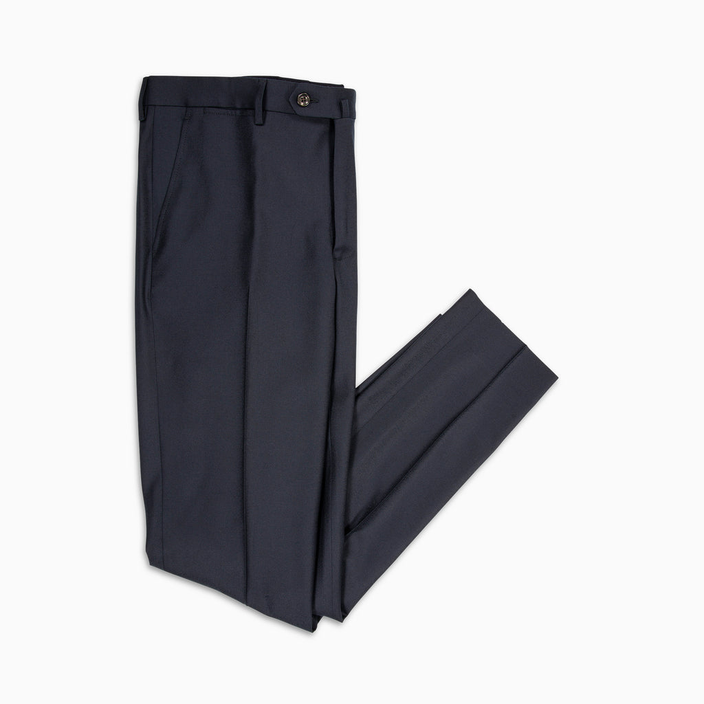 Flavien Chino Pants Cashmere and Wool (dark blue)