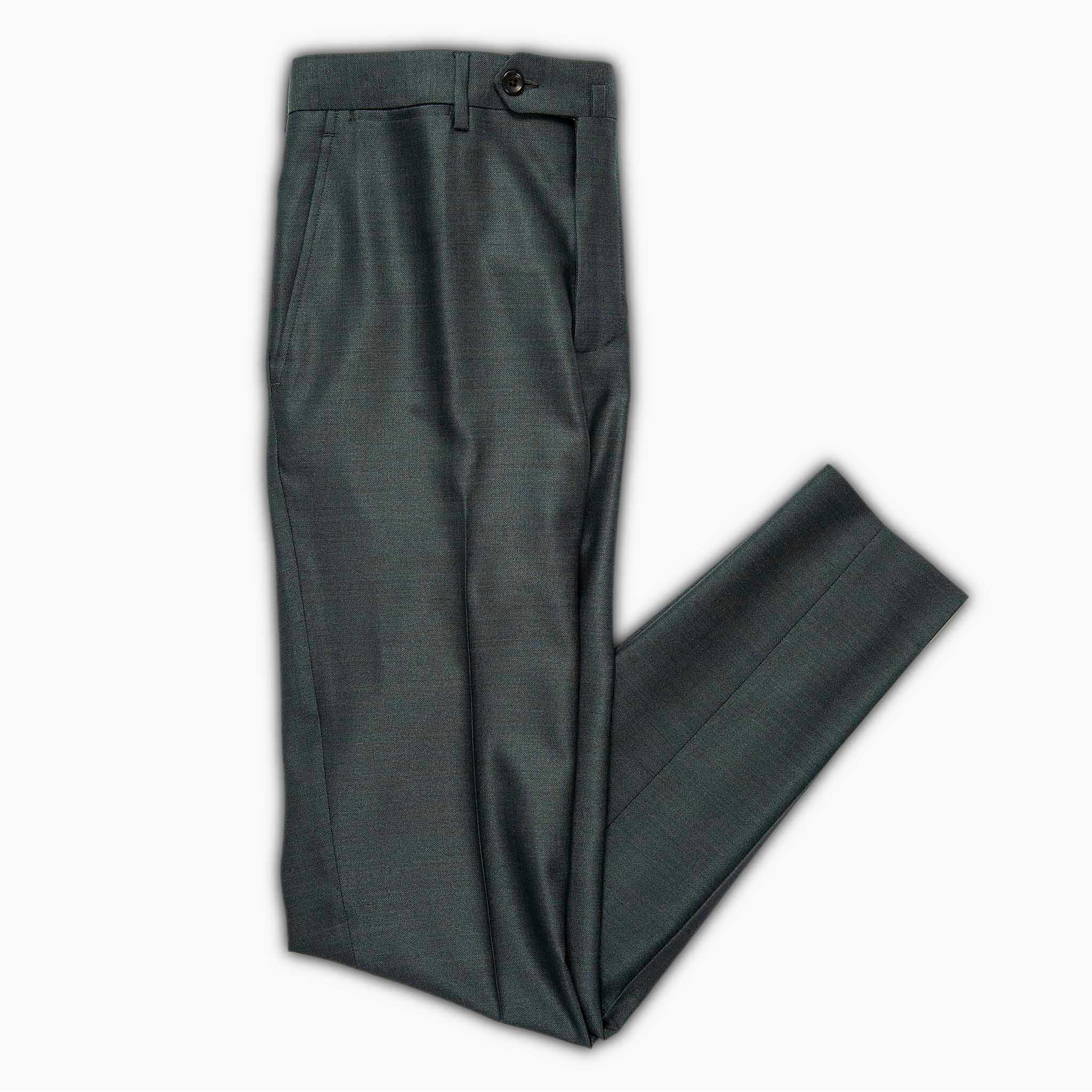 Flavien active chino pants in wool and silk (valley green)