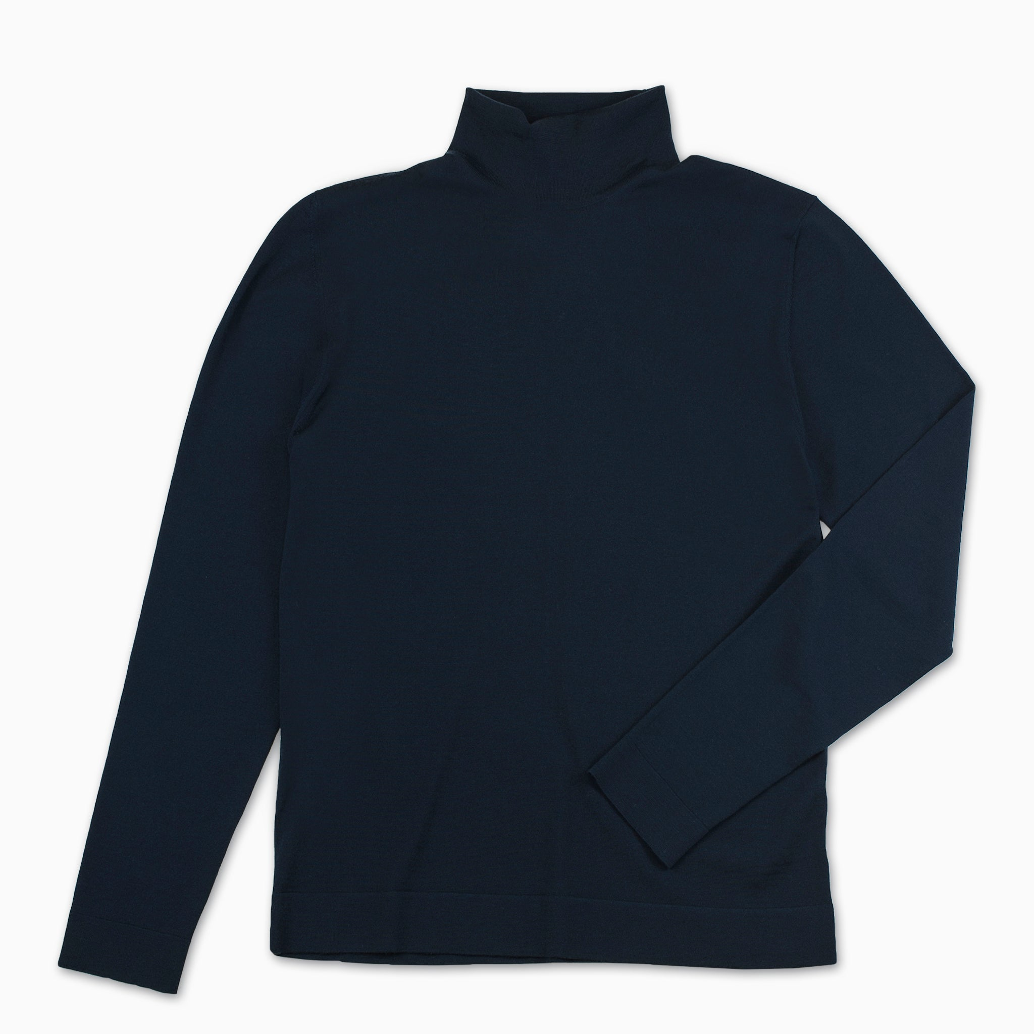 Gilles A cycling collar jumper Superfine Wool Merino (Dark Blue)