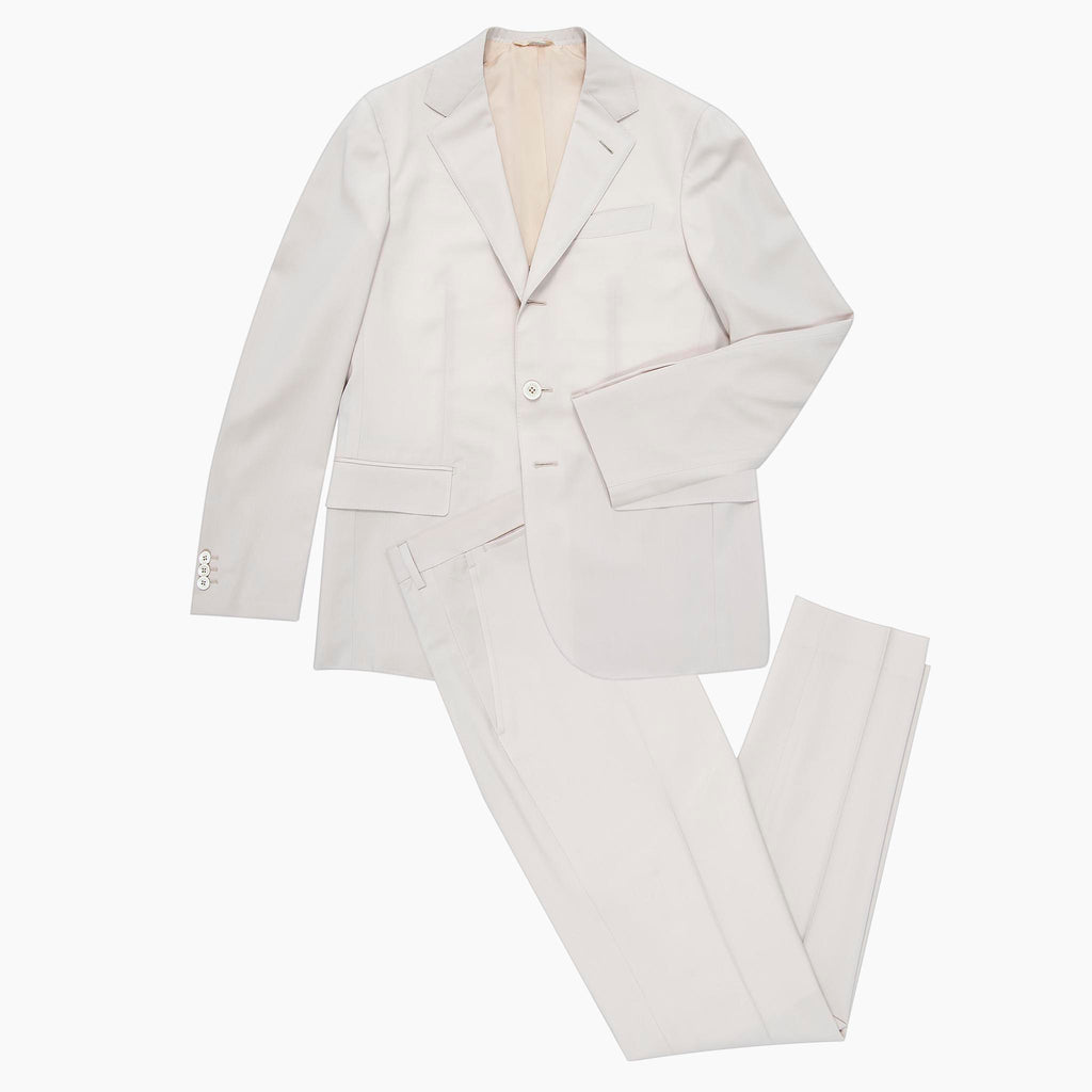 Suit Gaston Blazer and Flavien Pant in contemporary wool  (crema)