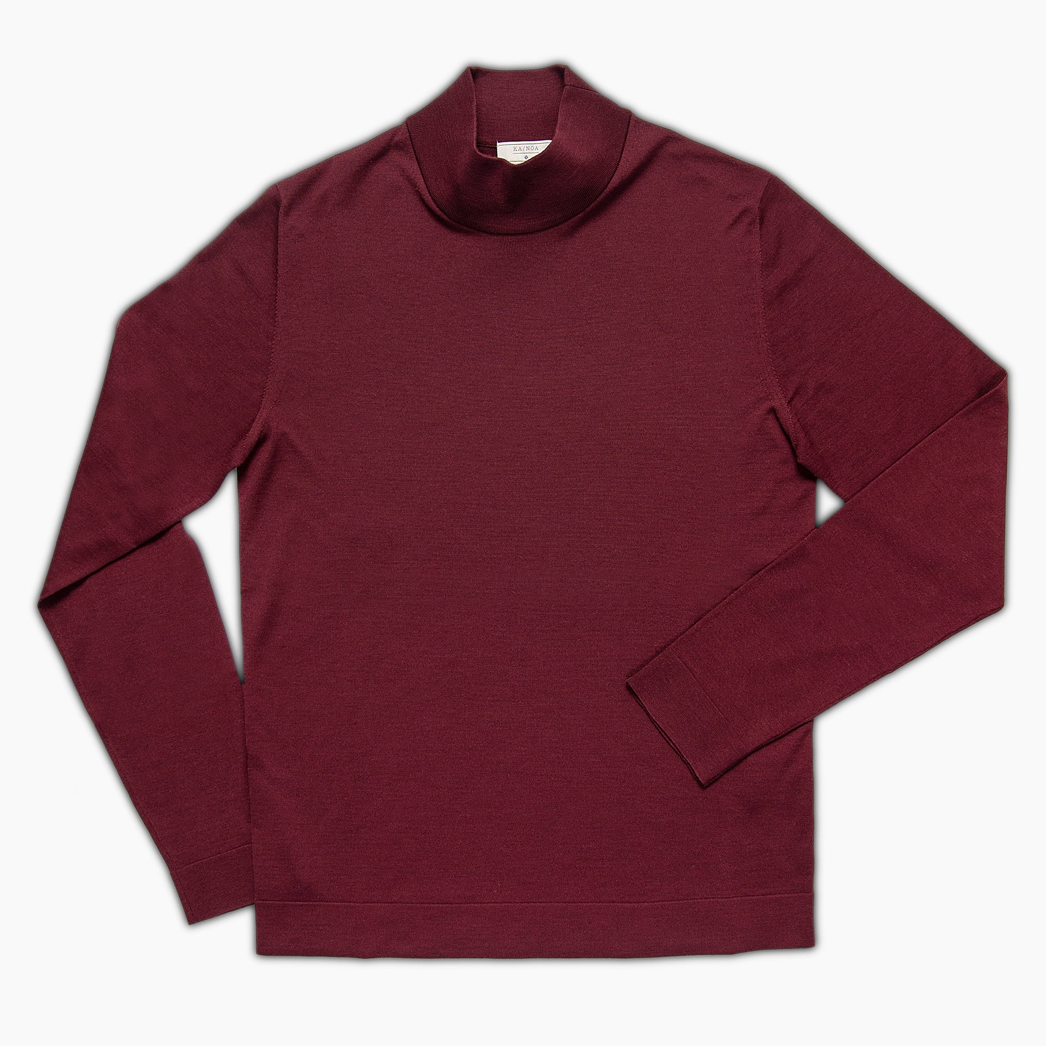 Gilles A cycling collar jumper Superfine Wool Merino (Burgundy)