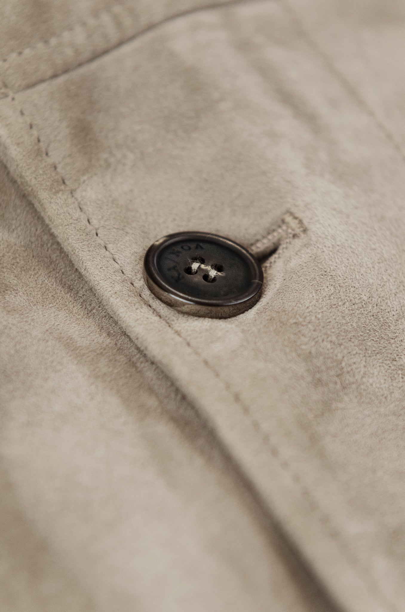 Henry Leather and Woollen Gilet (cord and mud grey)