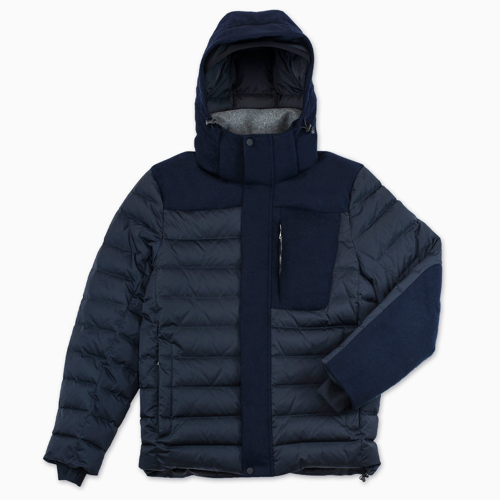 Hereve winter hybrid down ski jacket (dark blue)