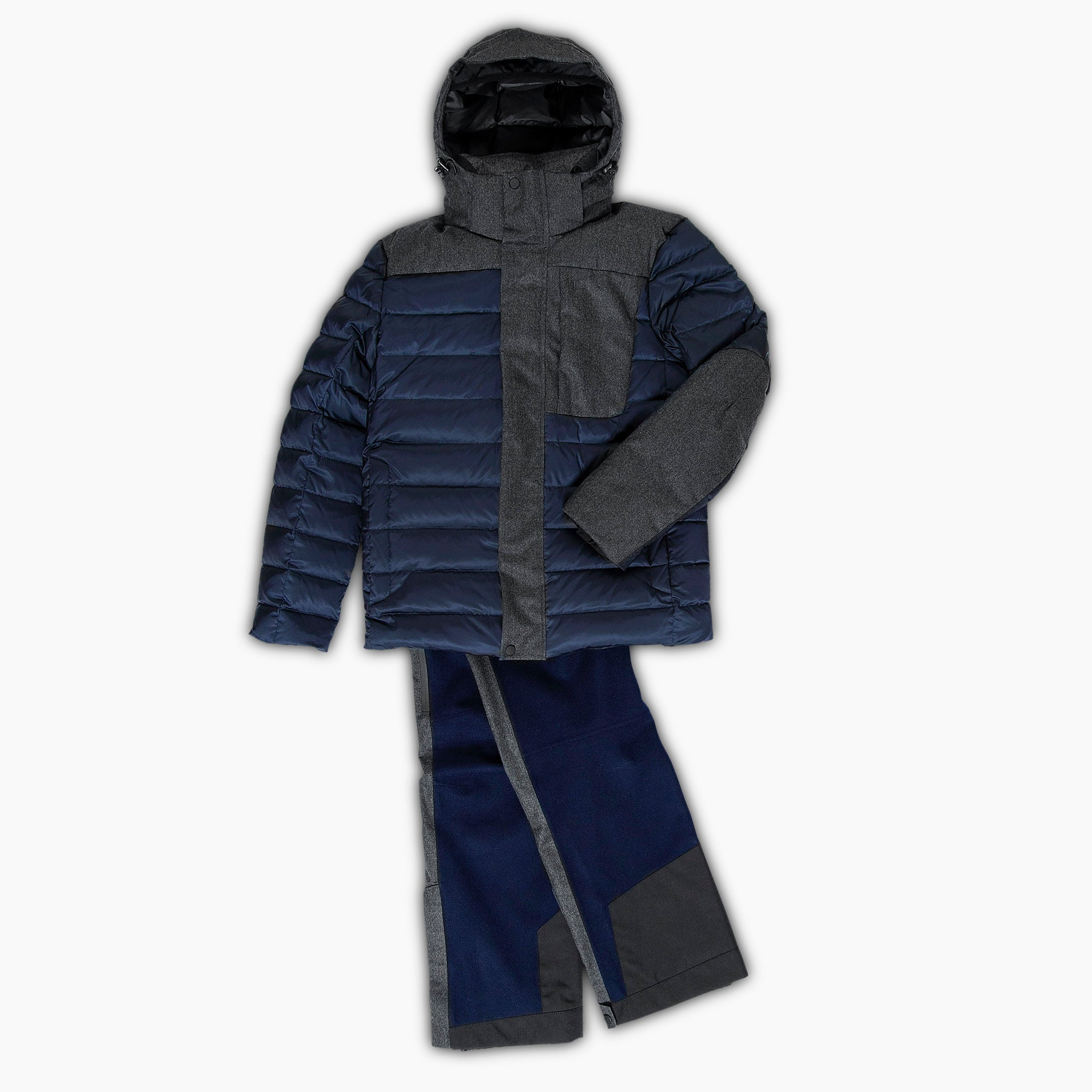 Kilian ski pants in laminated virgin wool (dark blue)