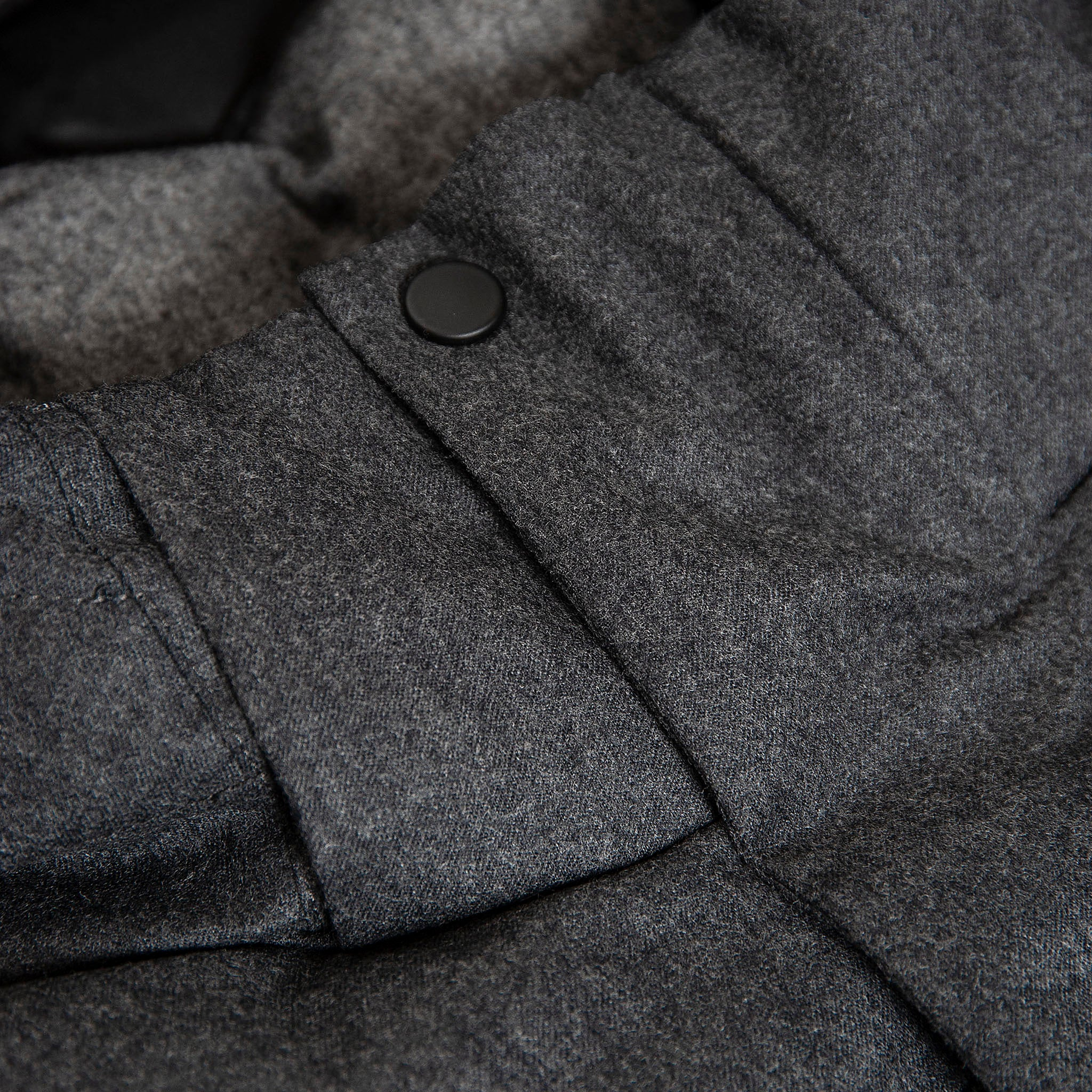 Herevé winter wool down jacket (dark grey melange)
