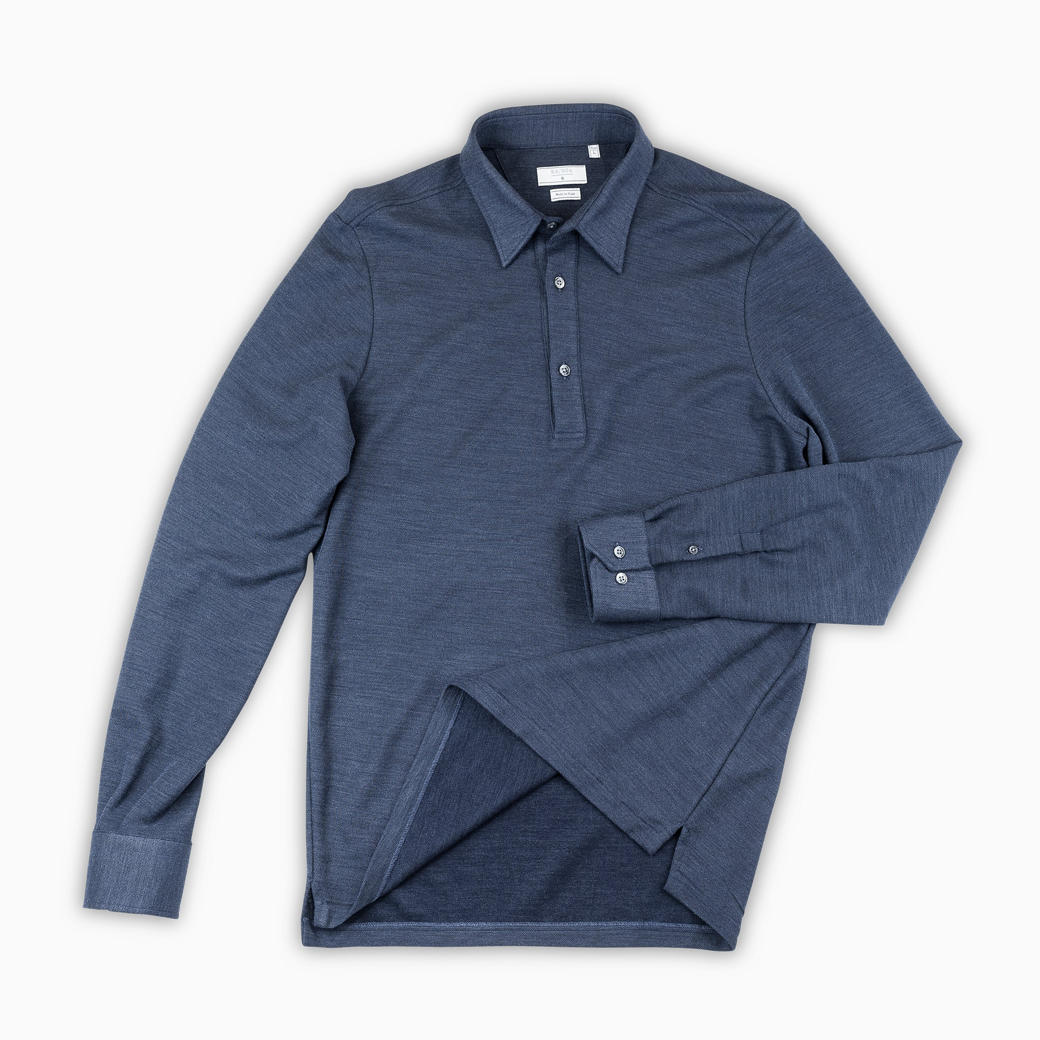 d44371aa55e Jean Polo Shirt Silk and Cotton (dark blue) — KA NOA