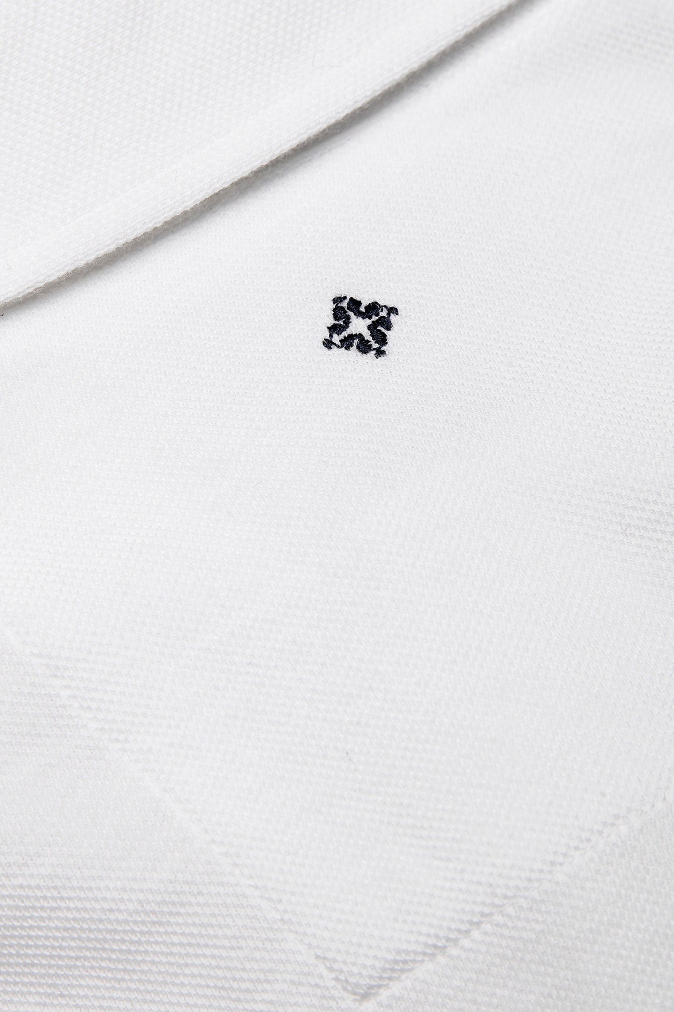 Jean long-sleeved polo in compact fine piquet (ice white)