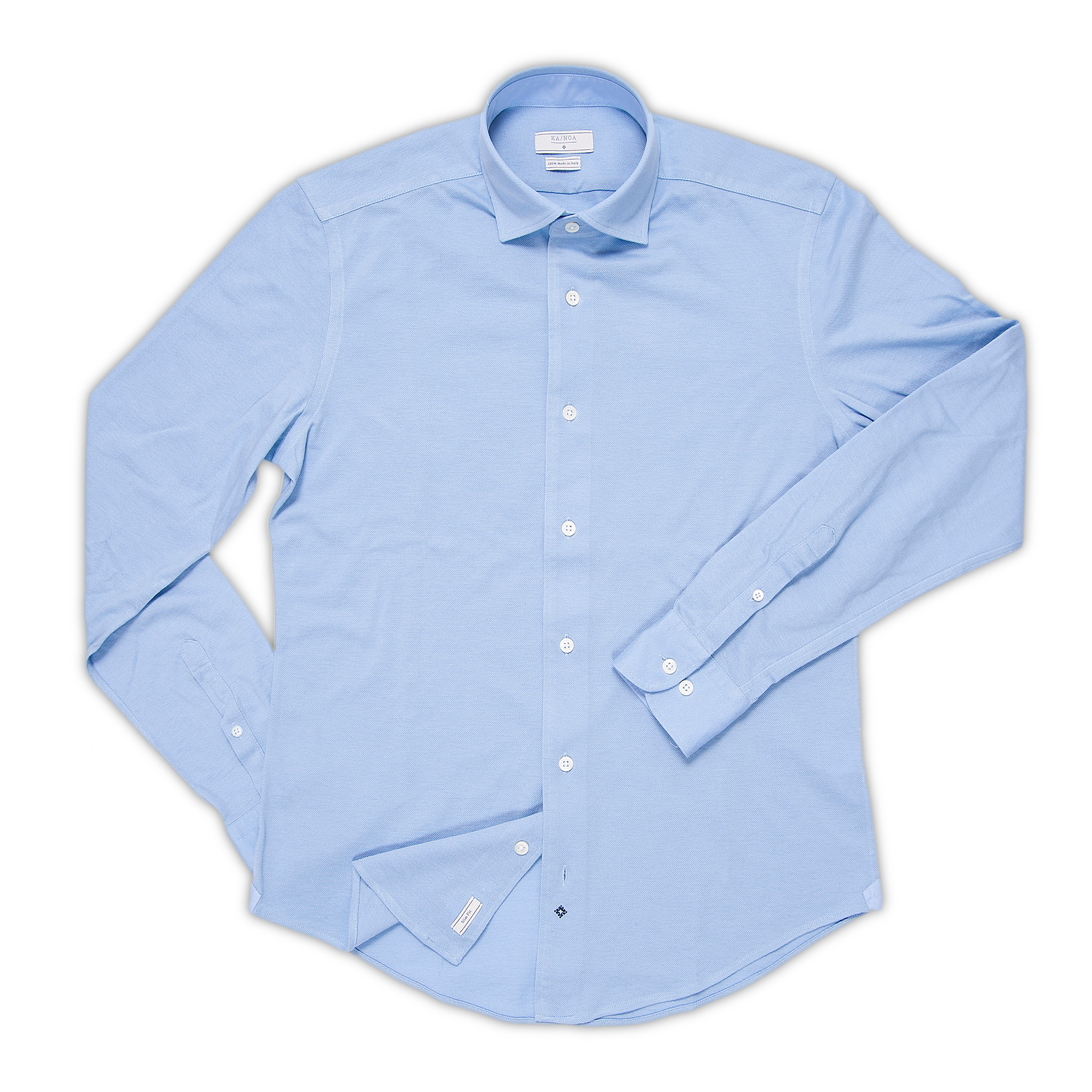Jonas shirt in 100% yarn-dyed piquet cotton (air blue)