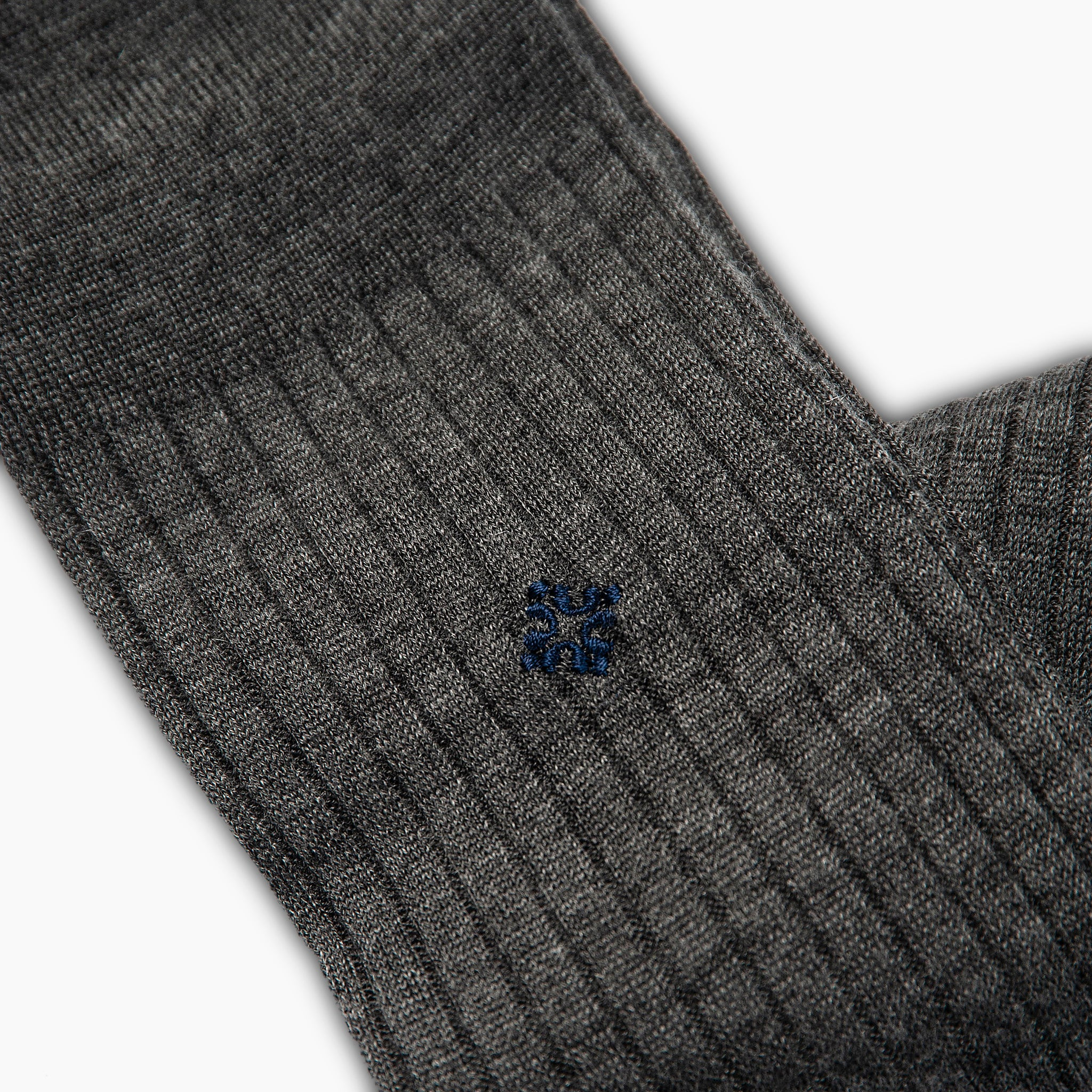 Joris Cashmere and Silk Socks (medium grey melange)