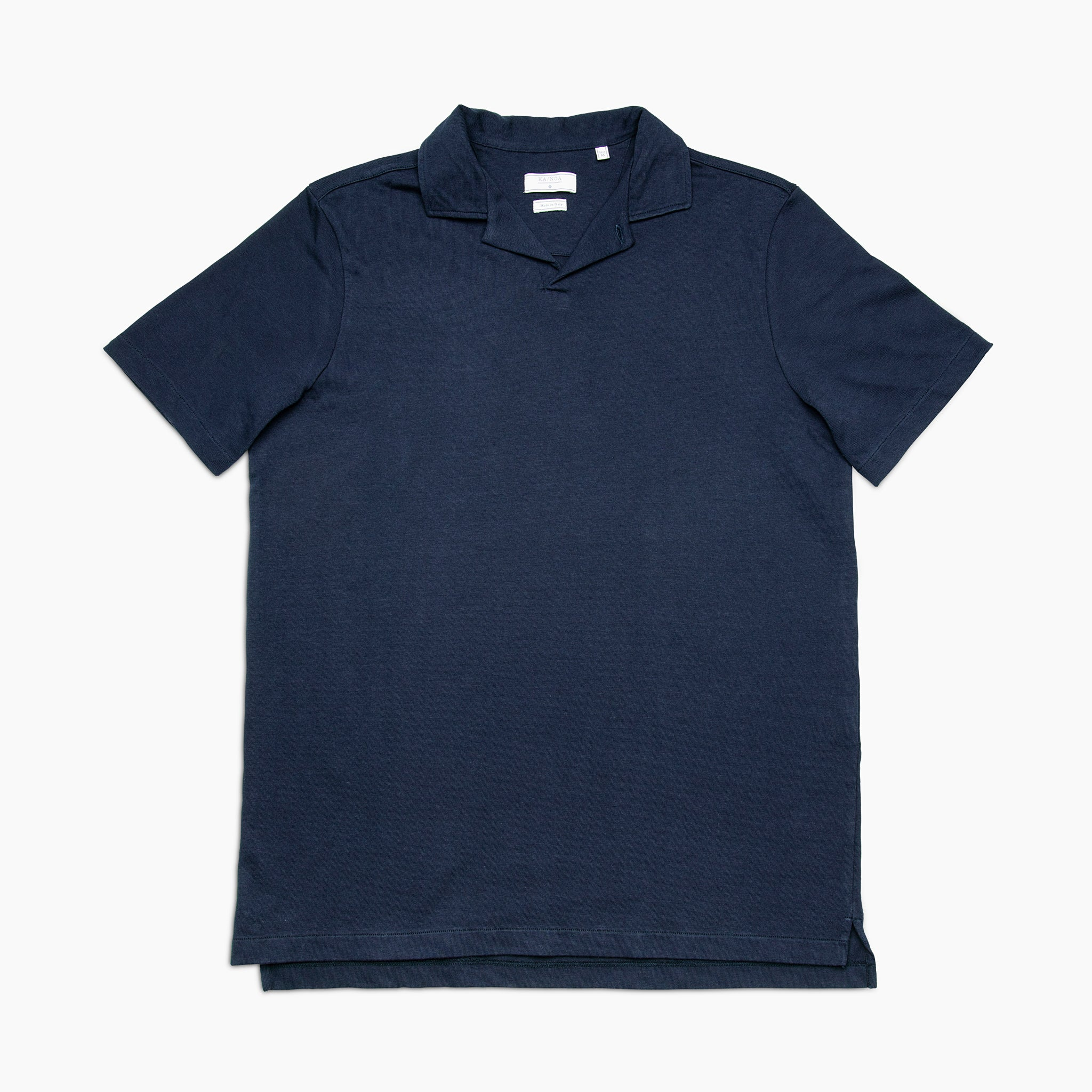 Loran short-sleeved polo in heavy-cotton jersey (dark blue)