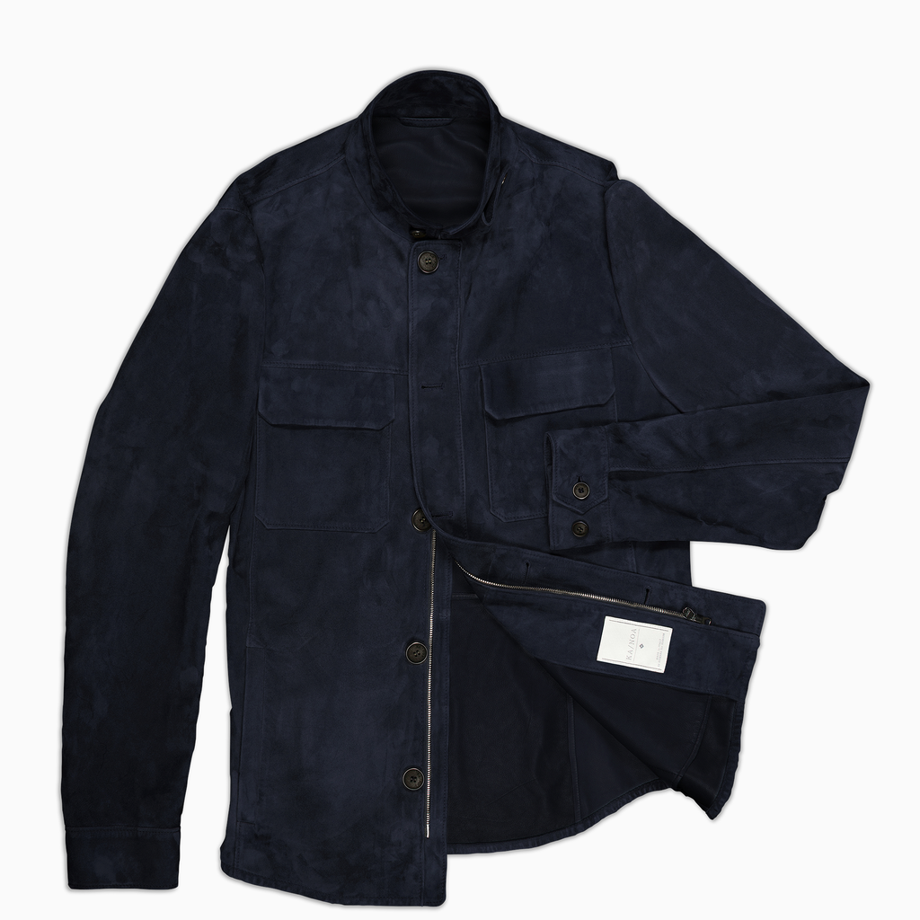 Leopold Dark Blue jacket shirt
