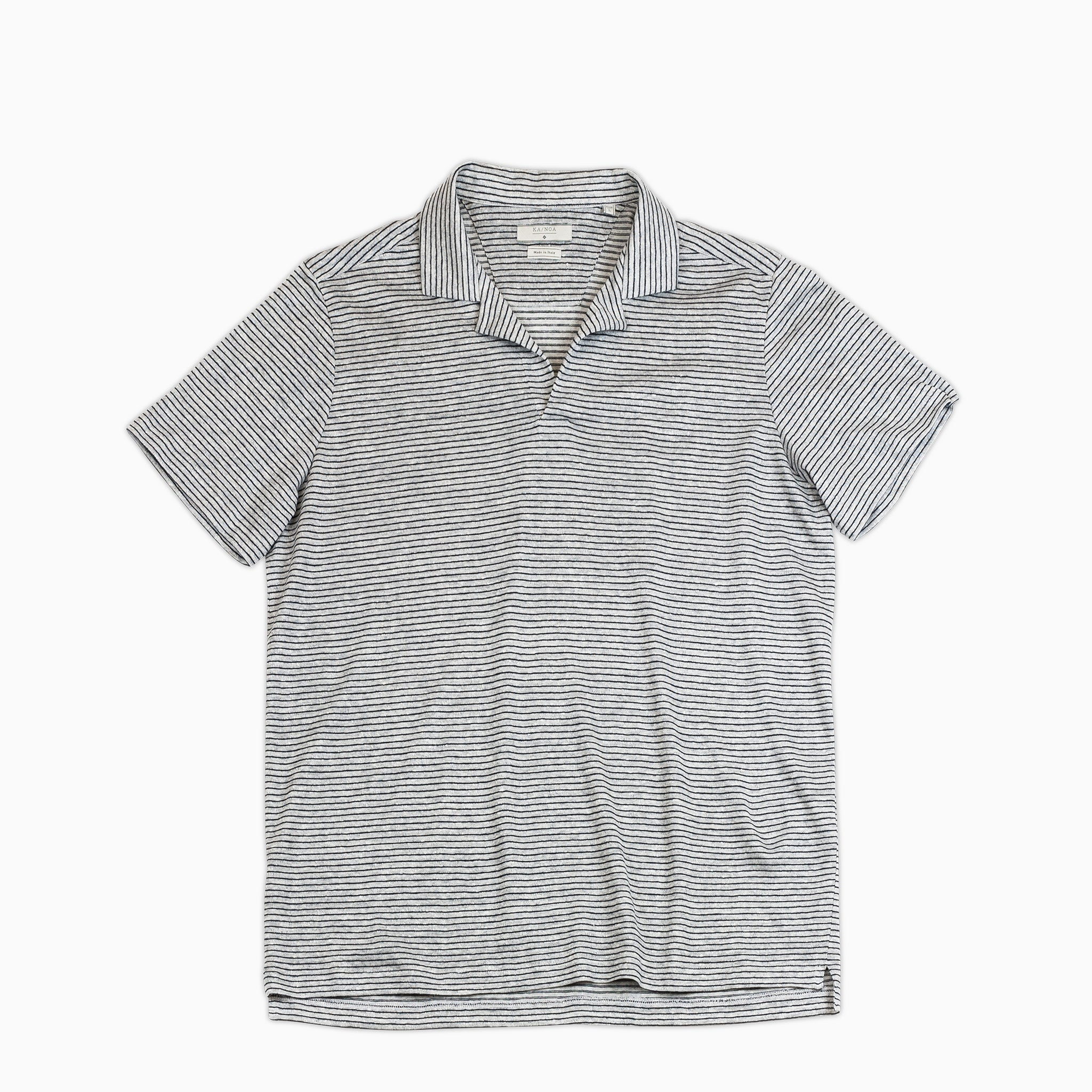 Lize Polo Shirt Stripe (Stripe Cotton Linen Jersey)
