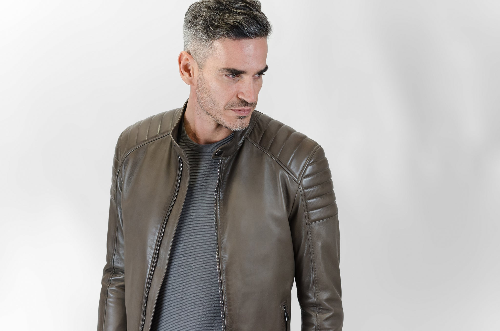 Lotari Biker Jacket (hearth brown)