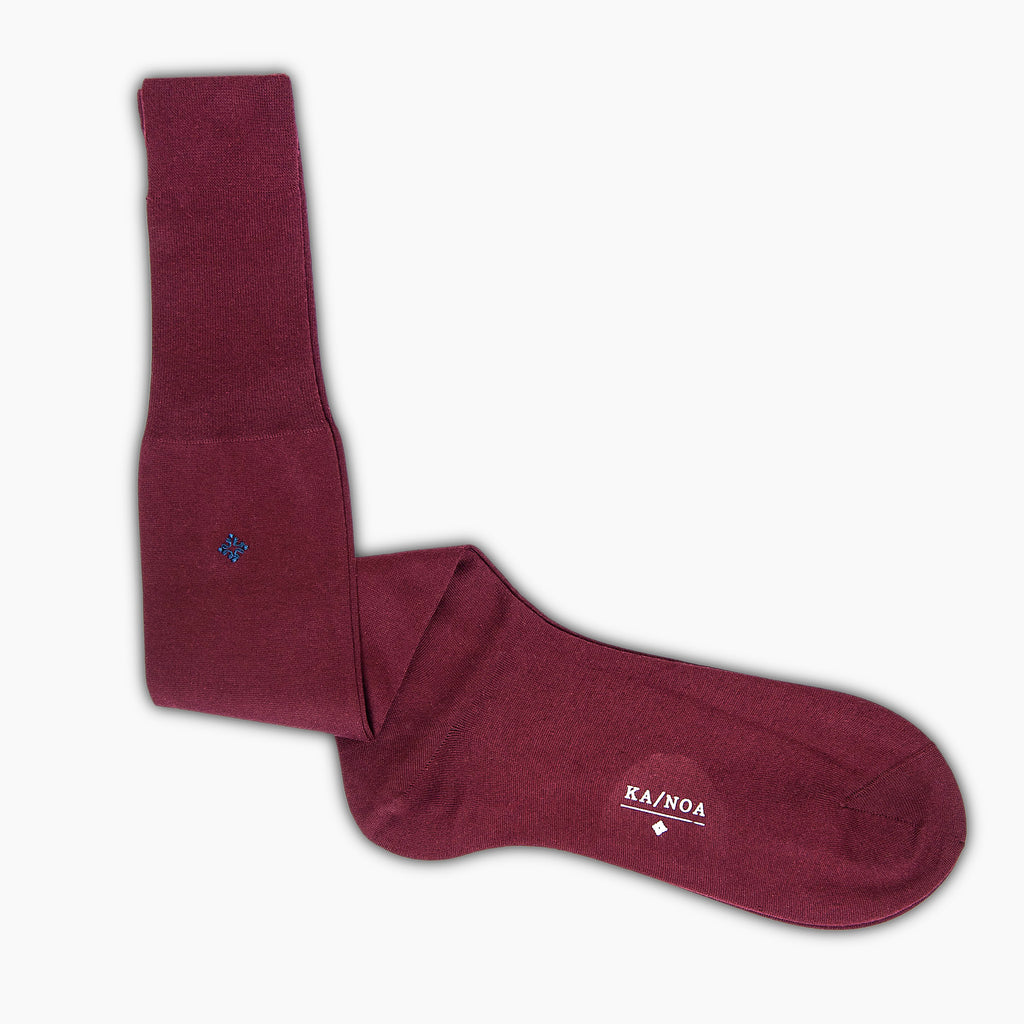 Lacelot Organic Cotton Socks (burgundy)