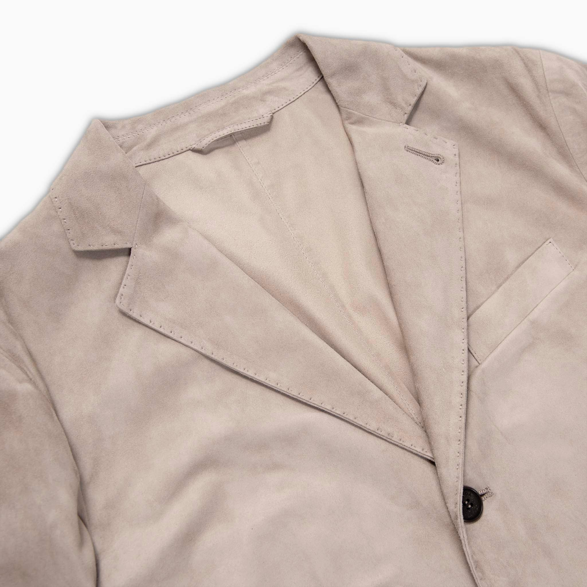Lion suede blazer (light sand)