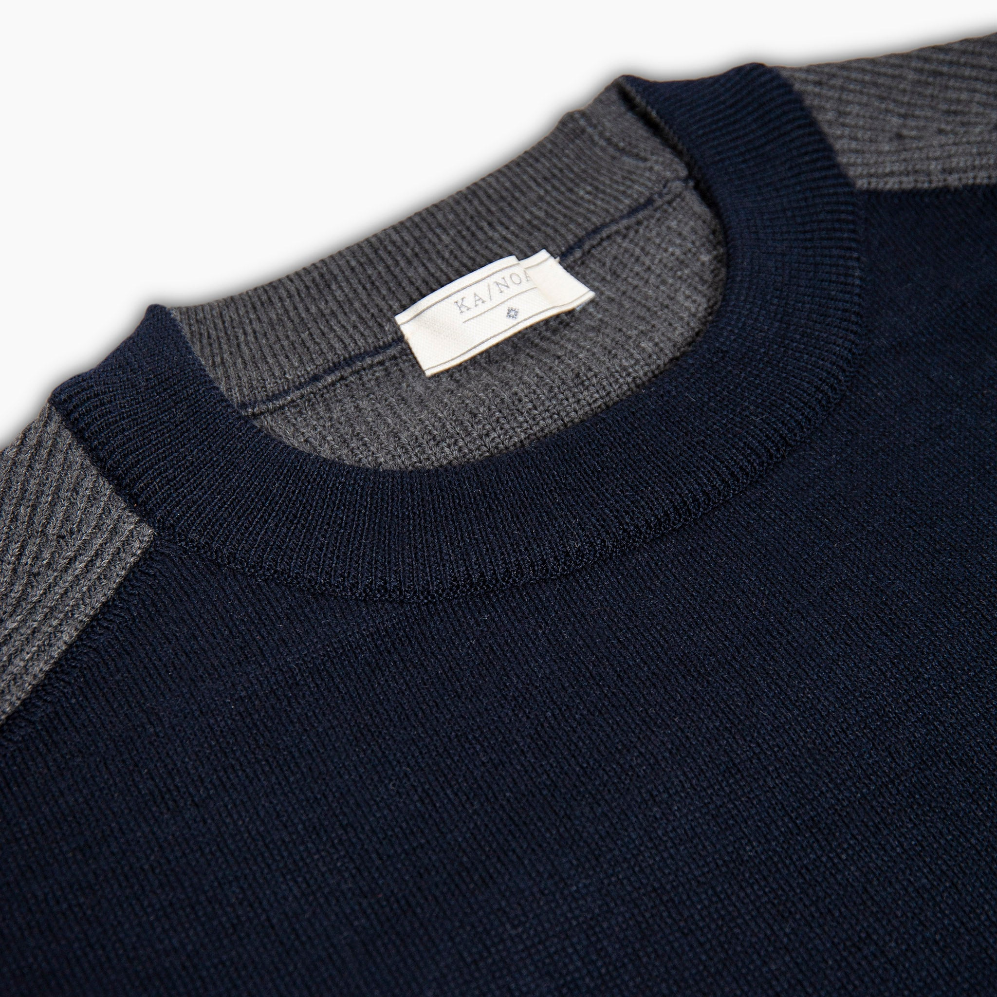 Lional Knitted crew neck jumper punto Milano (two tones)