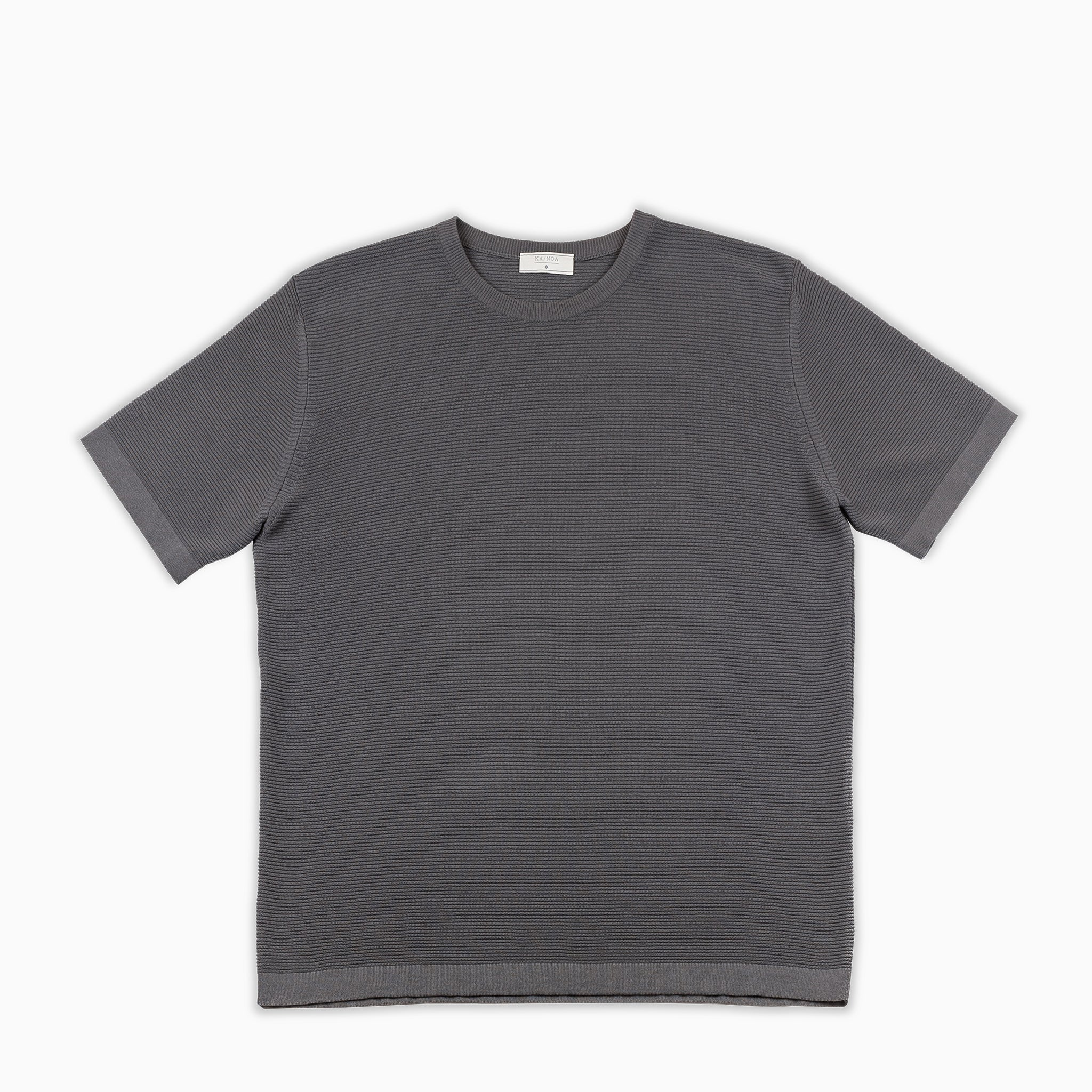 Malten T-Shirt Tricot Compact Cotton (mud grey)
