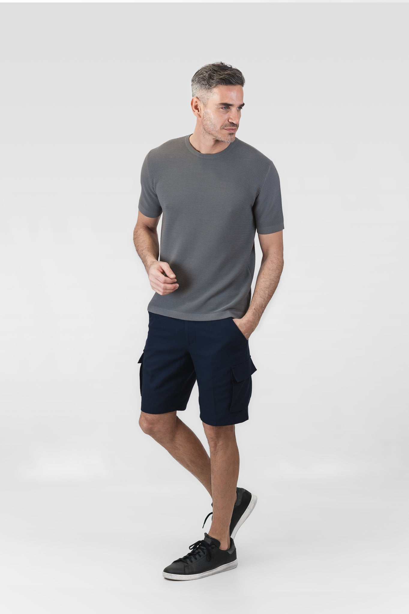 Cleman Cargo Short Soft Panama (dark blue)