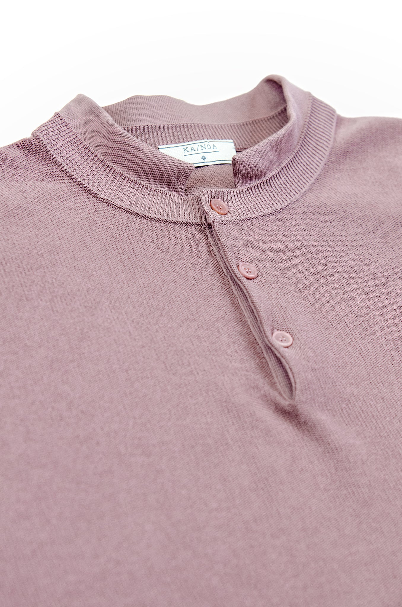 Maté polo tricot compact cotton (antique rose)