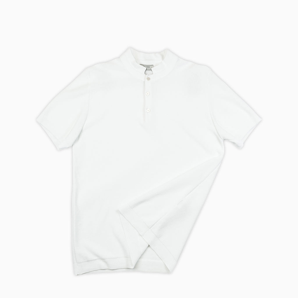 Maté polo tricot compact cotton (ice white)