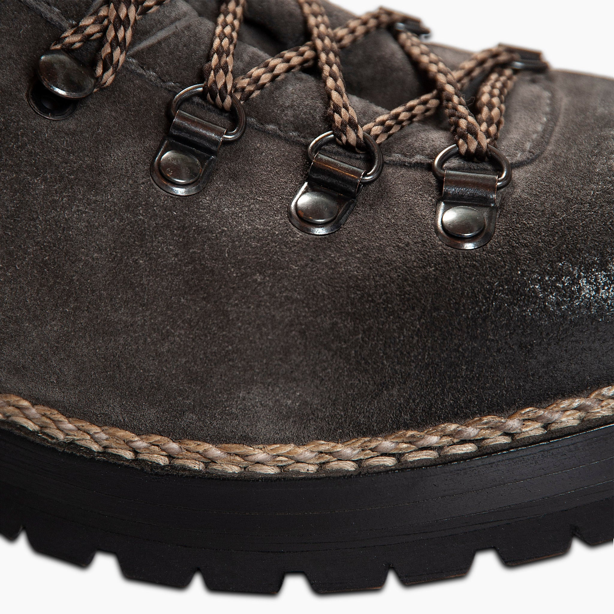 Marmolada entirely hand crafted urban trekking shoe - WOMEN (dark grey suede)