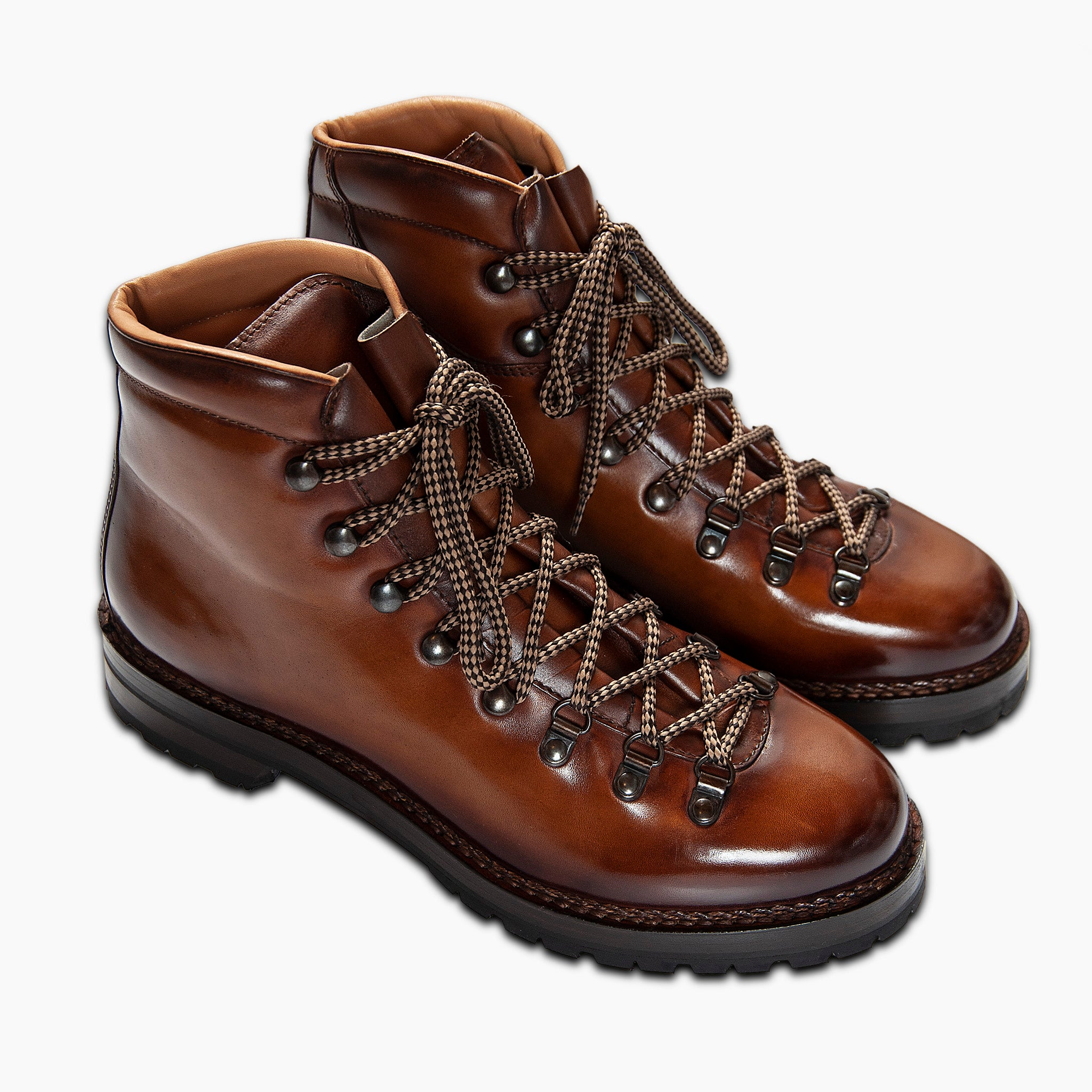 Marmolada entirely hand crafted urban trekking shoe (earth brown)