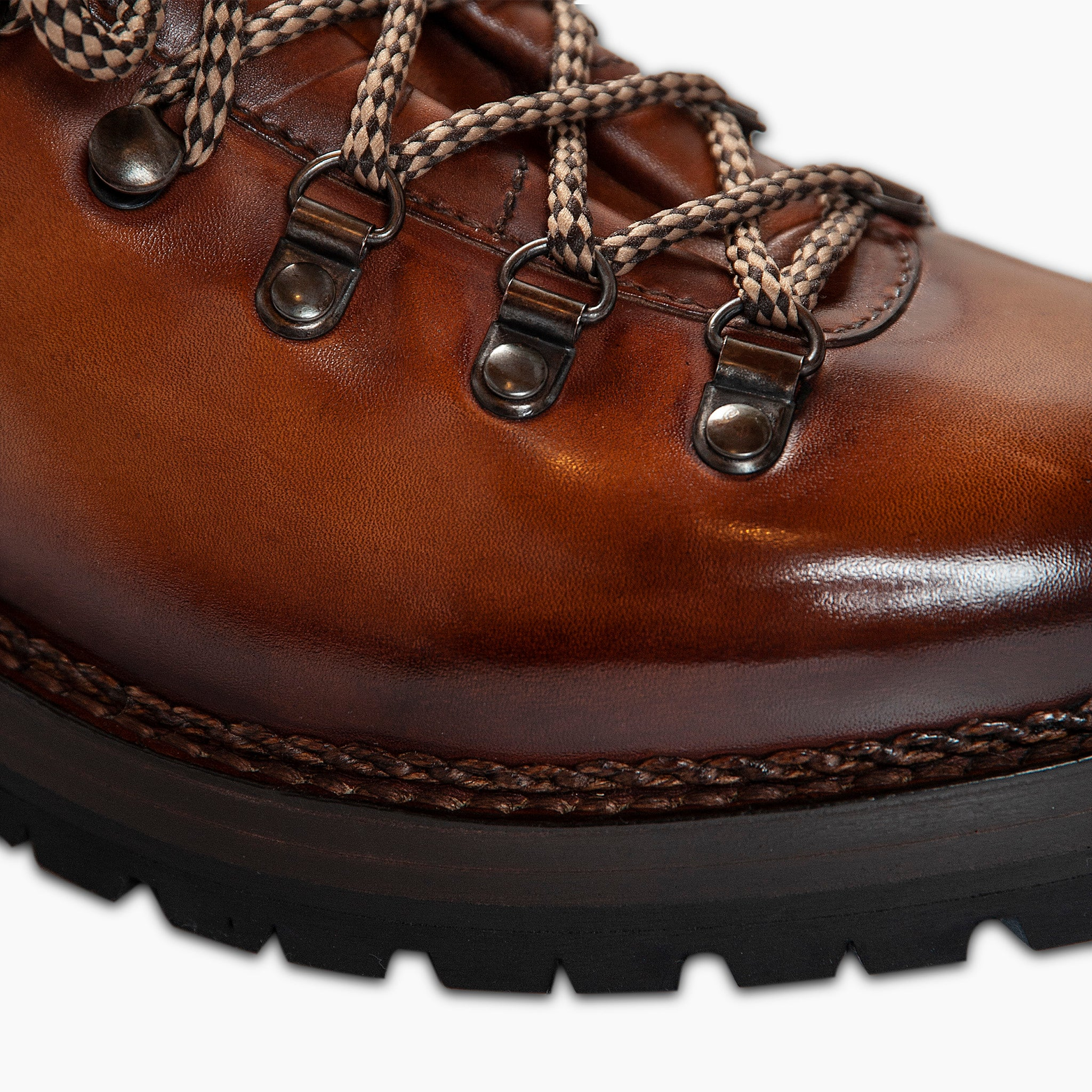 Marmolada entirely hand crafted urban trekking shoe - MEN (earth brown)