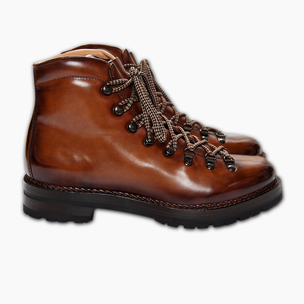 Marmolada entirely hand crafted urban trekking shoe - WOMEN (earth brown)