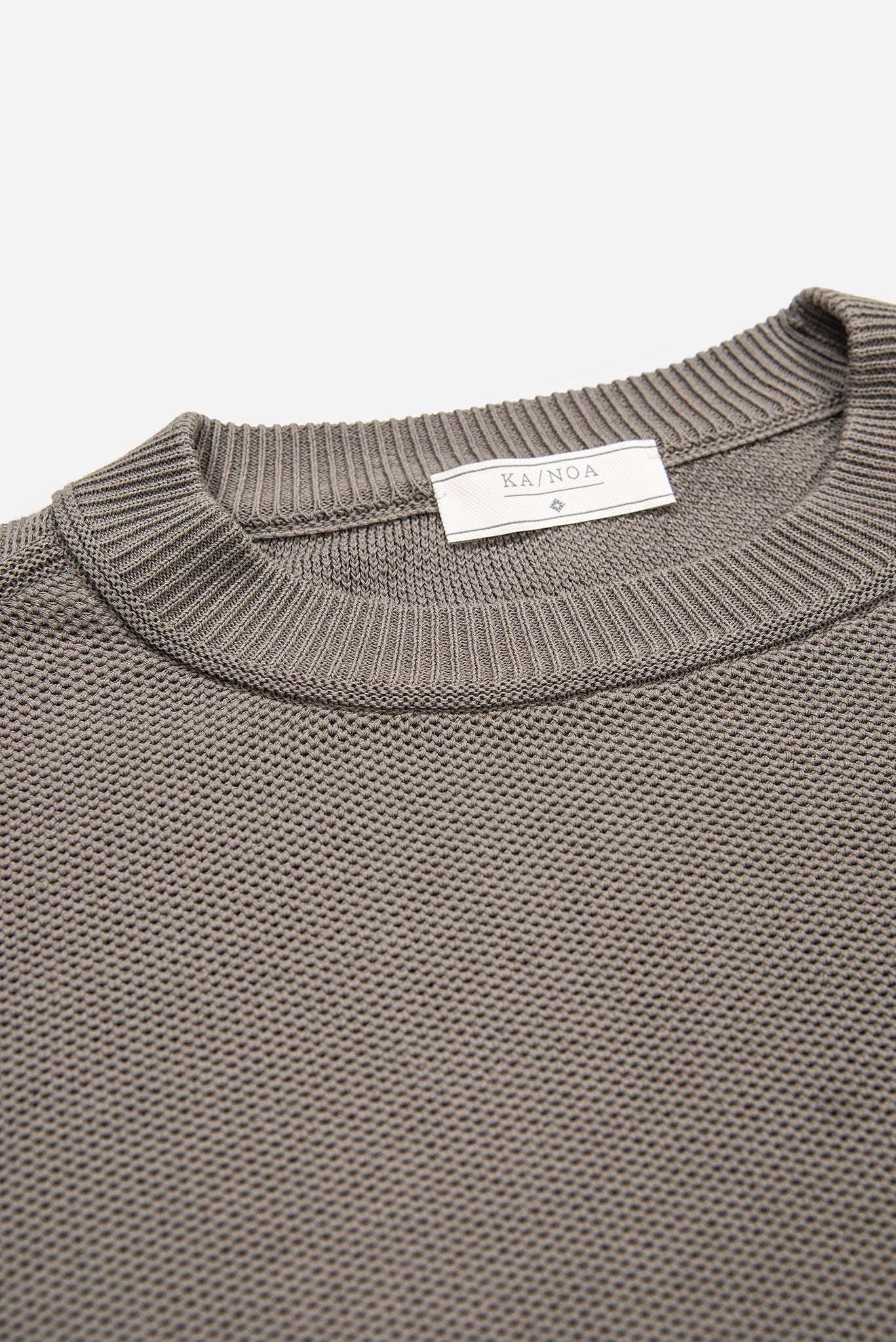 Massimen crew-neck jumper Compact Cotton (mud grey)