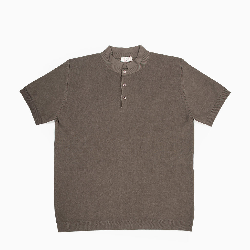 Maté Polo Tricot Compact Cotton (mud grey)