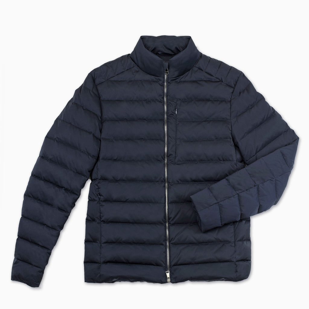 Agapet quilted down jacket (dark blue)