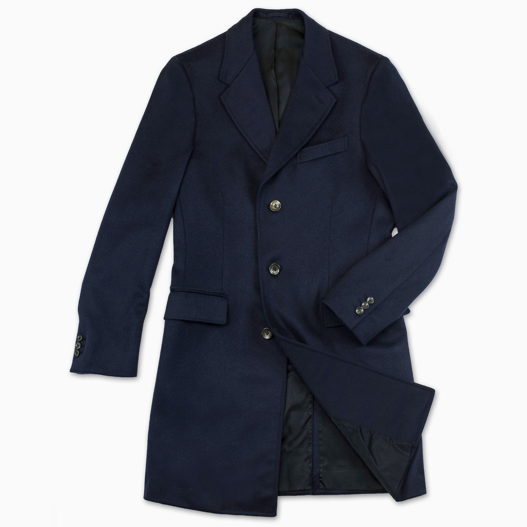 Pierre Coat Wool and Cashmere (Night Blue)