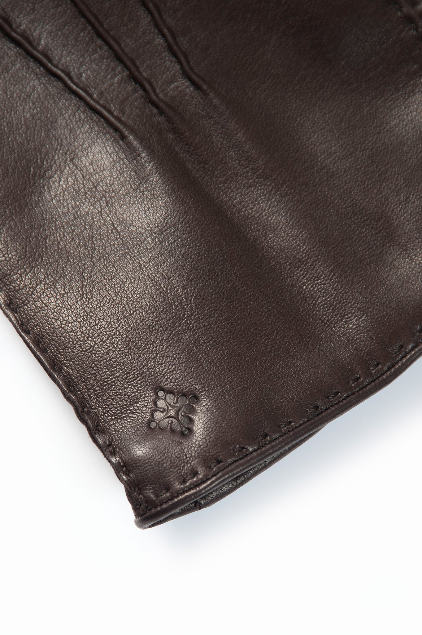 Paul 100% Soft Nappa Leather and Interior in Cashmere Gloves (dark brown)